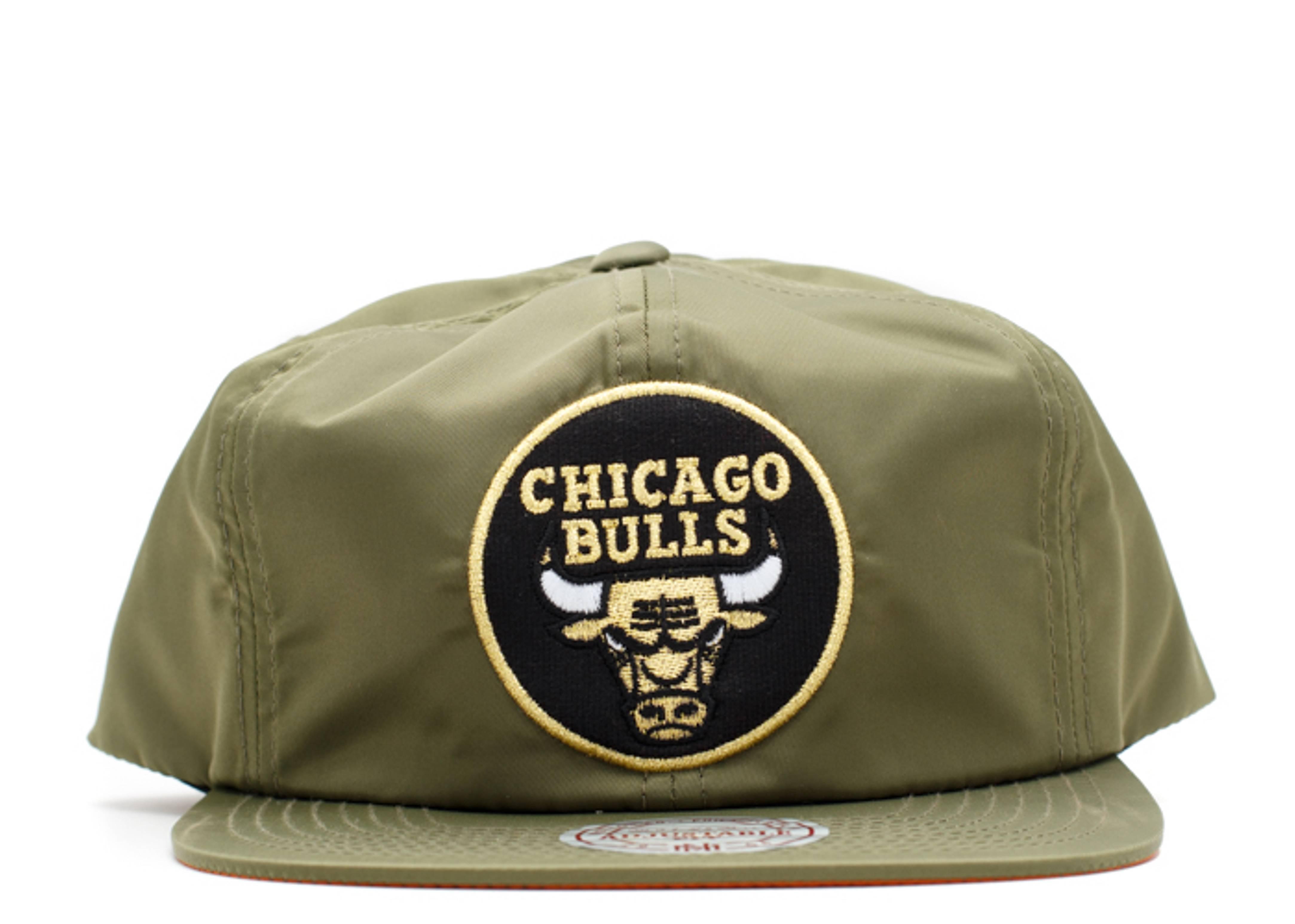 chicago bulls nylon snap-back