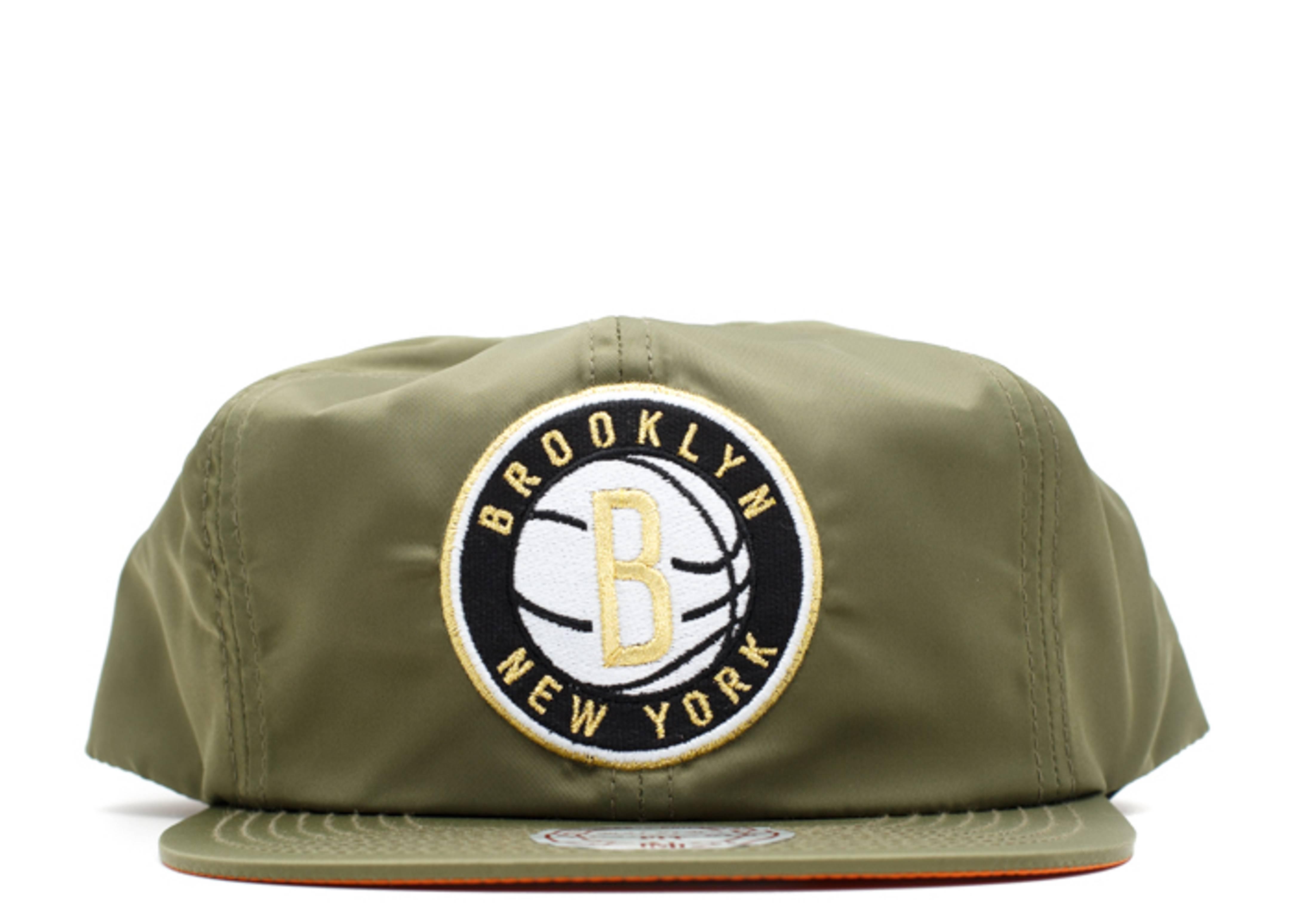 brooklyn nets nylon snap-back