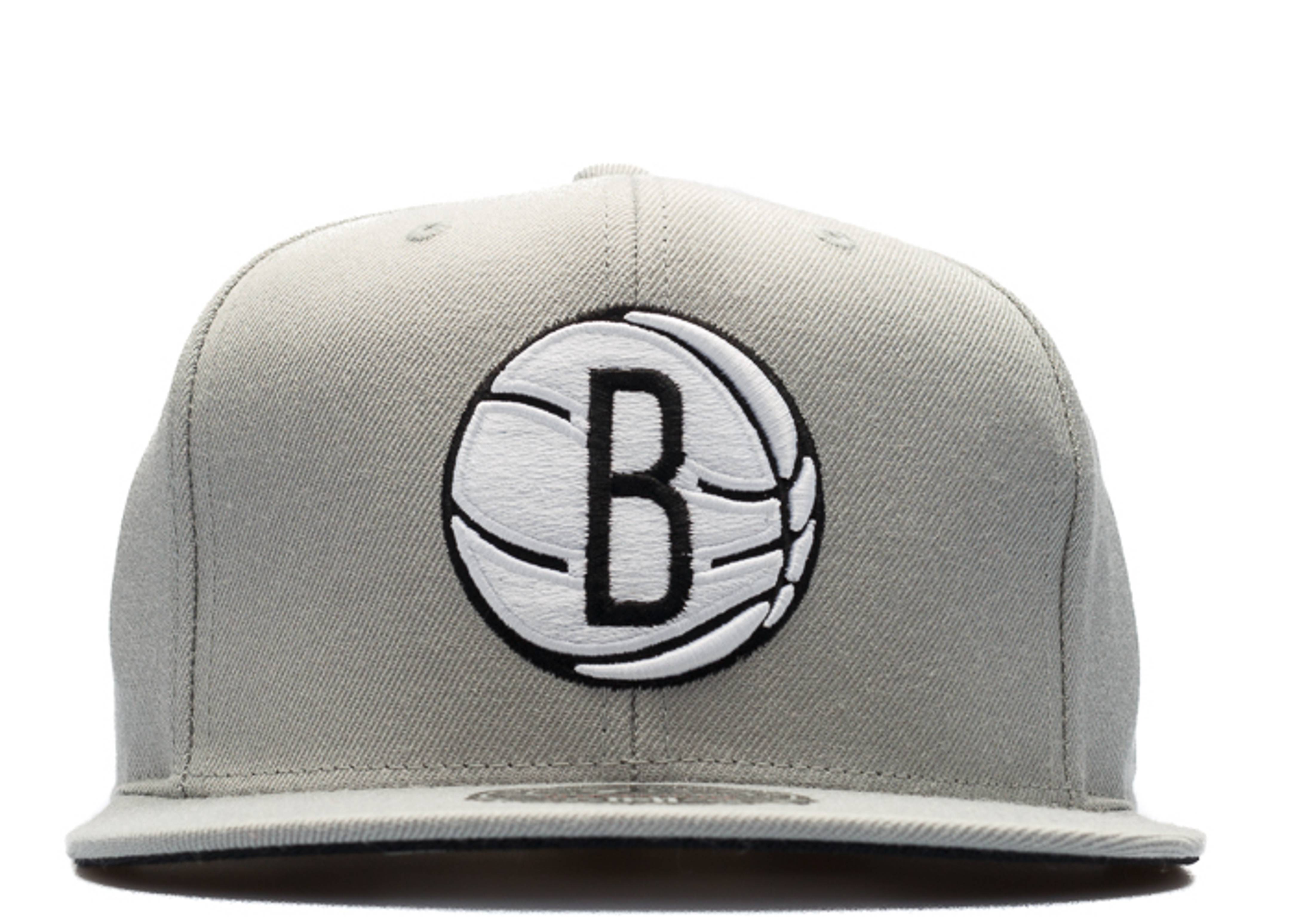 brooklyn nets high crown fitted