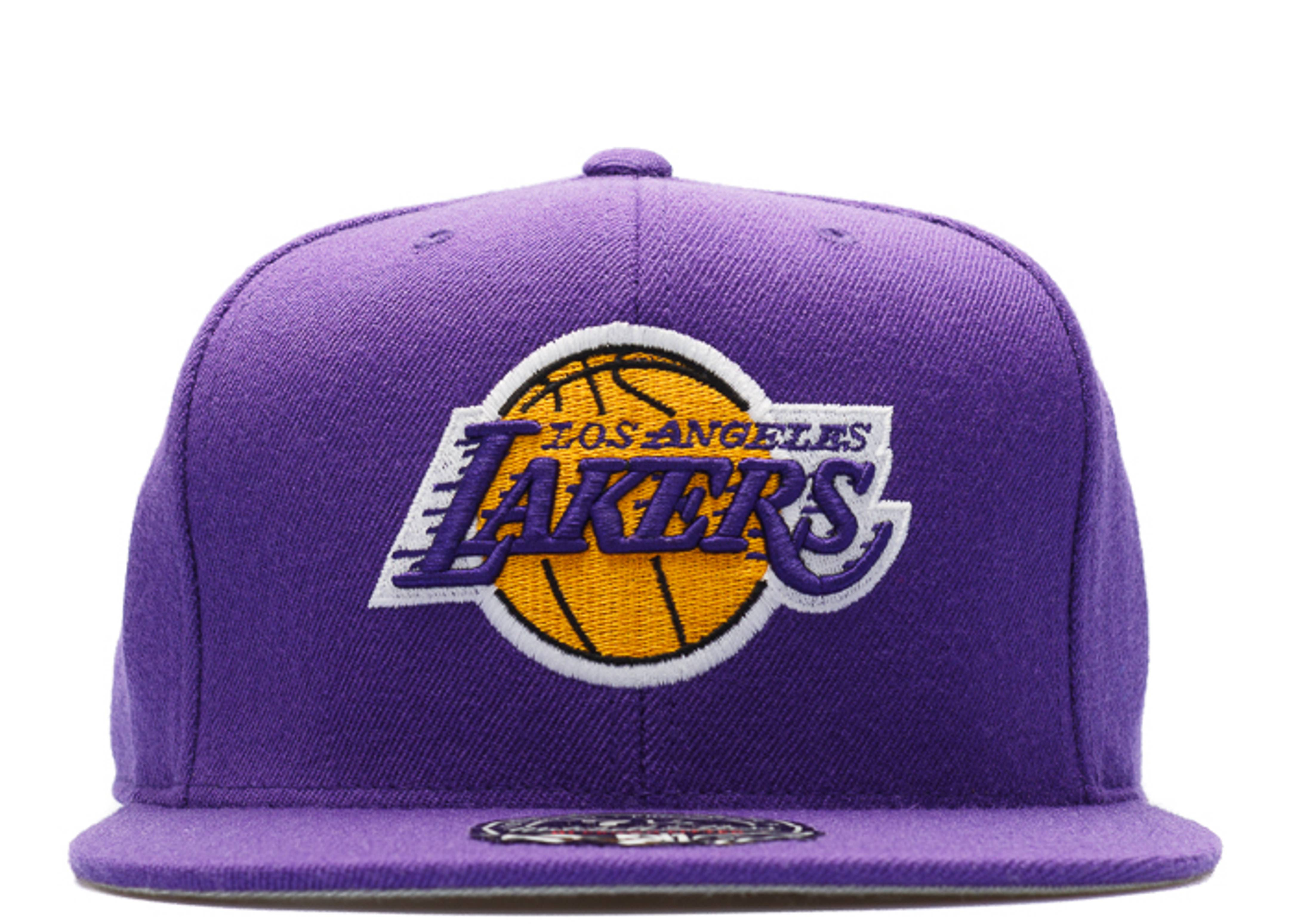 los angeles lakers high crown fitted