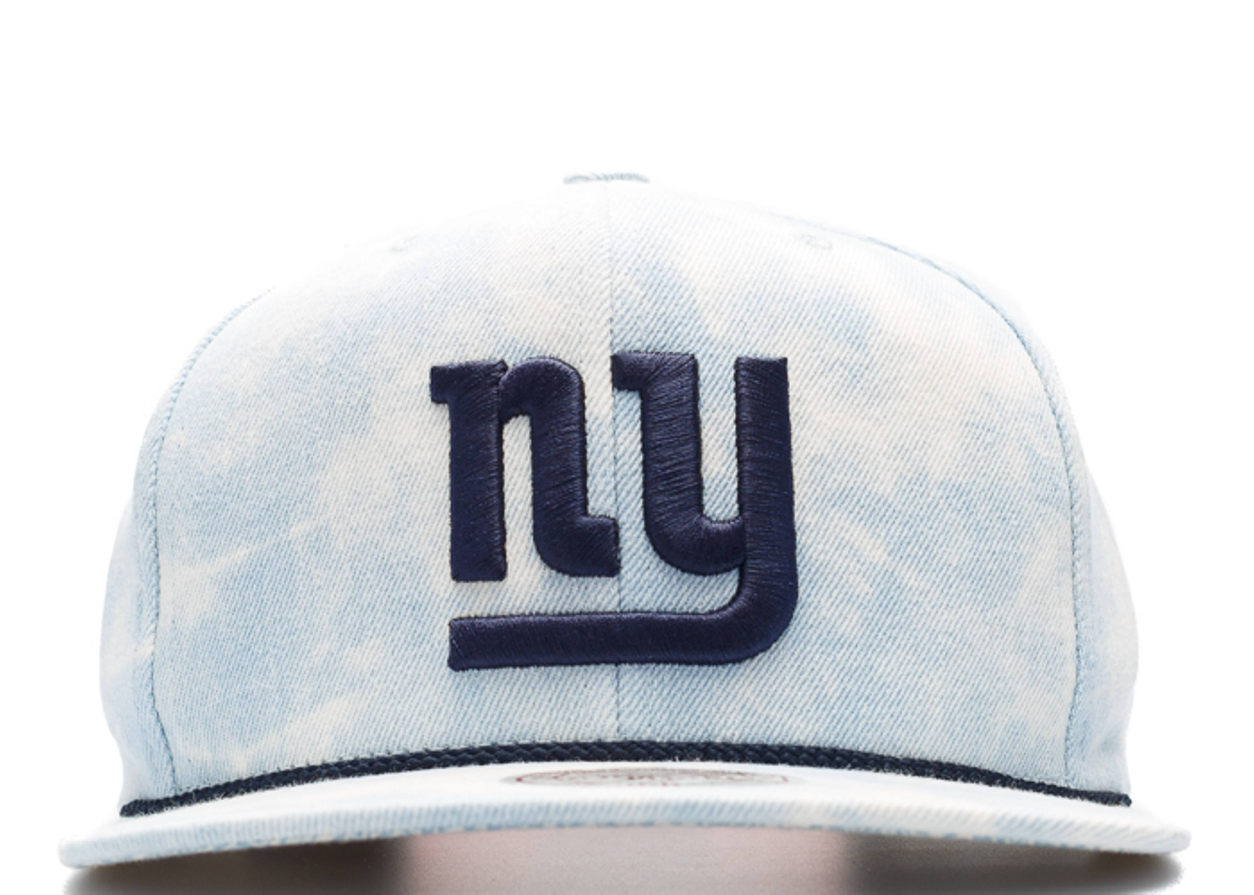 "new york giants snap-back ""lite acid wash"""