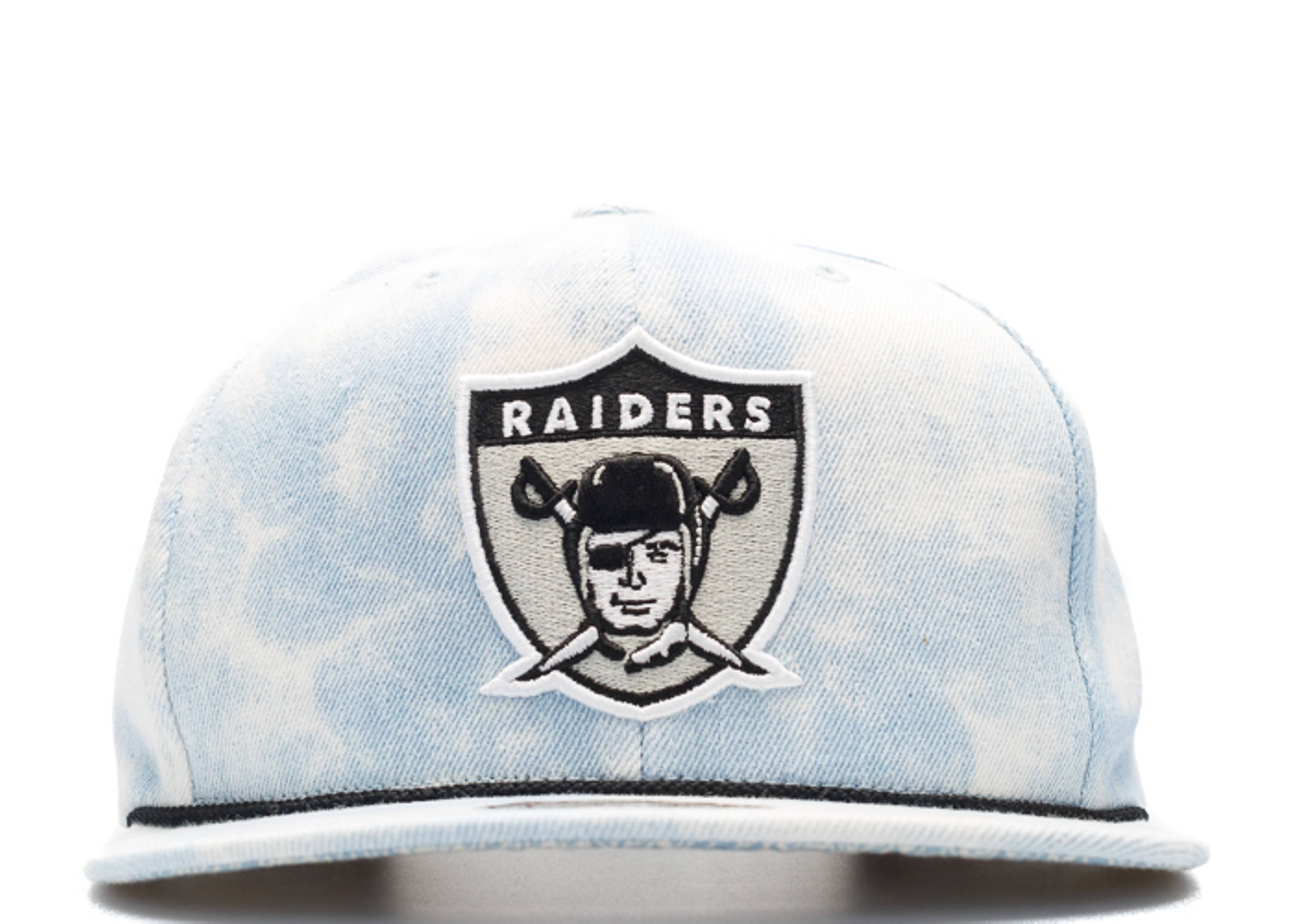 "oakland raiders snap-back ""lite acid wash"""