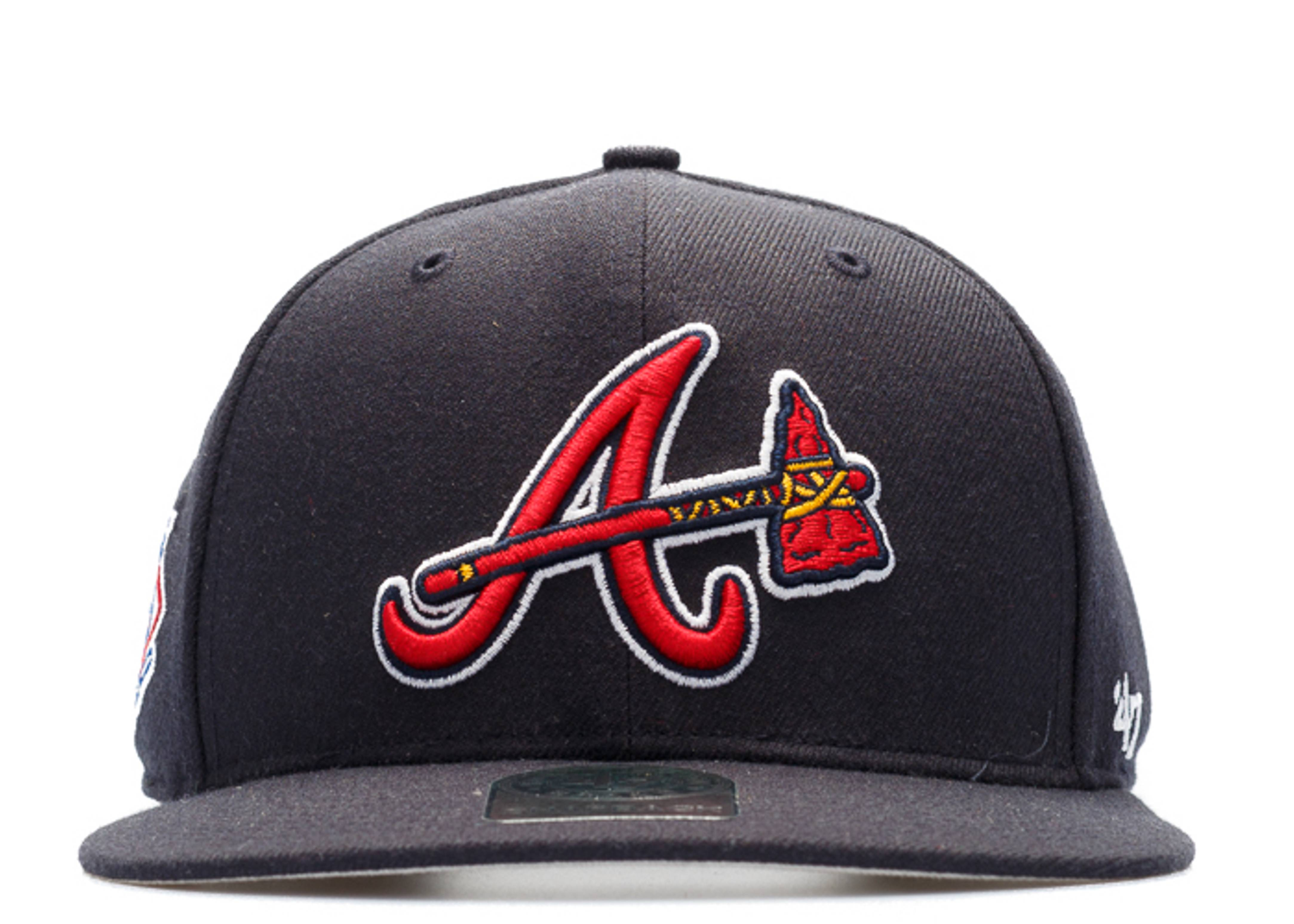 "atlanta braves snap-back ""national league side patch"""