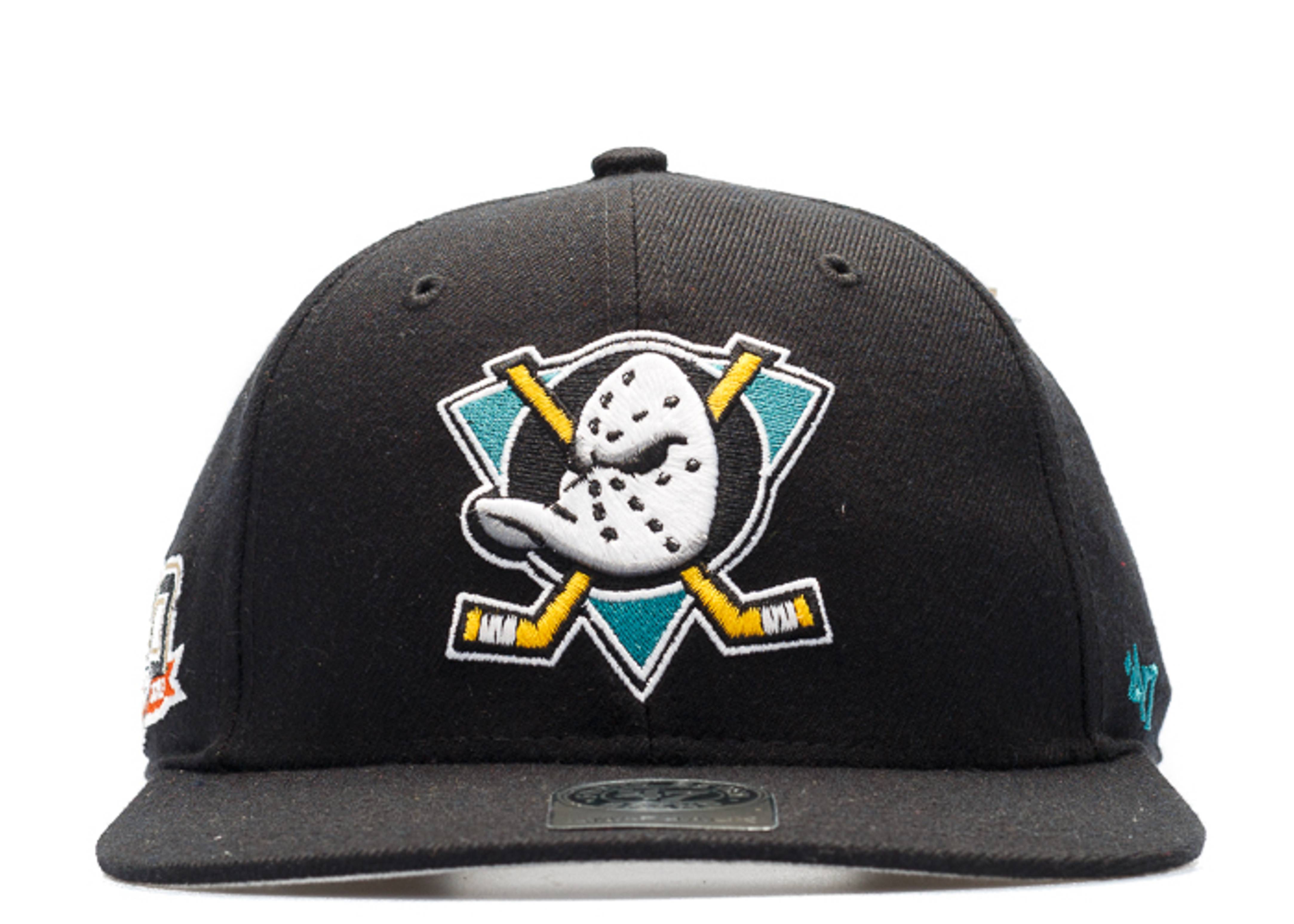 """anaheim ducks snap-back """"20th anniversary side patch"""""""