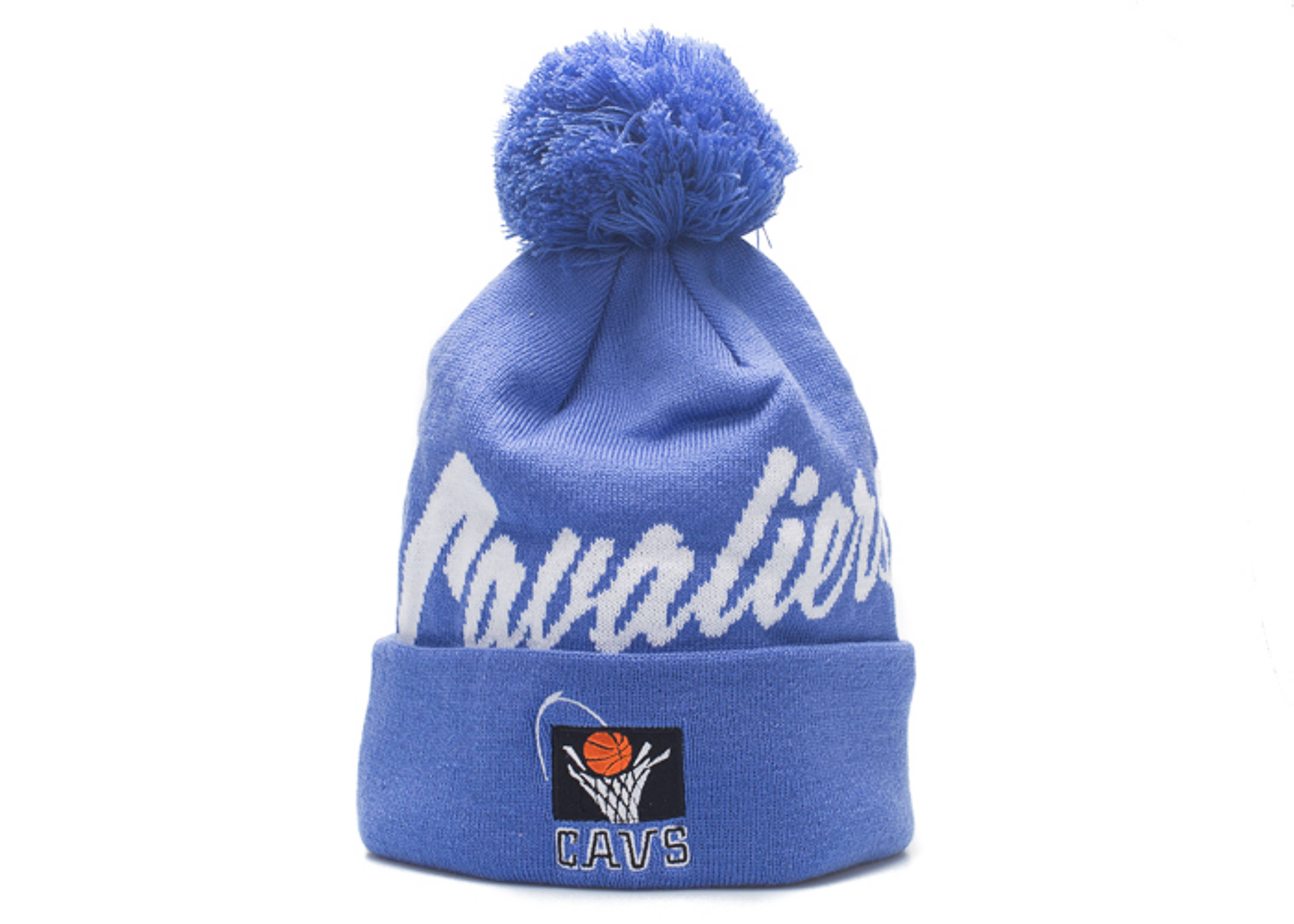 "cleveland cavaliers beanie ""double up cuffed pom"""