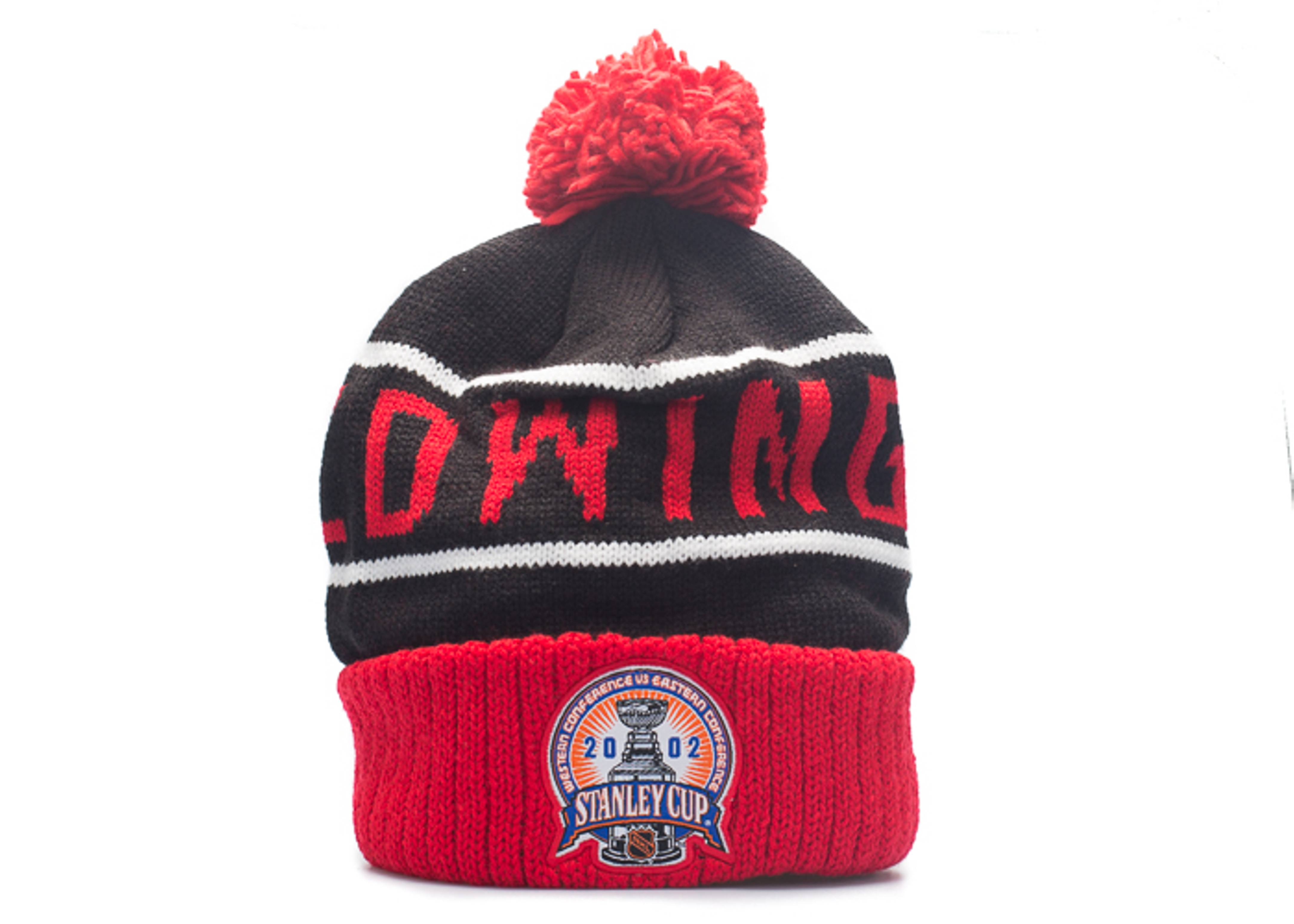 "detroit red wings beanie ""2002 championship pom"""