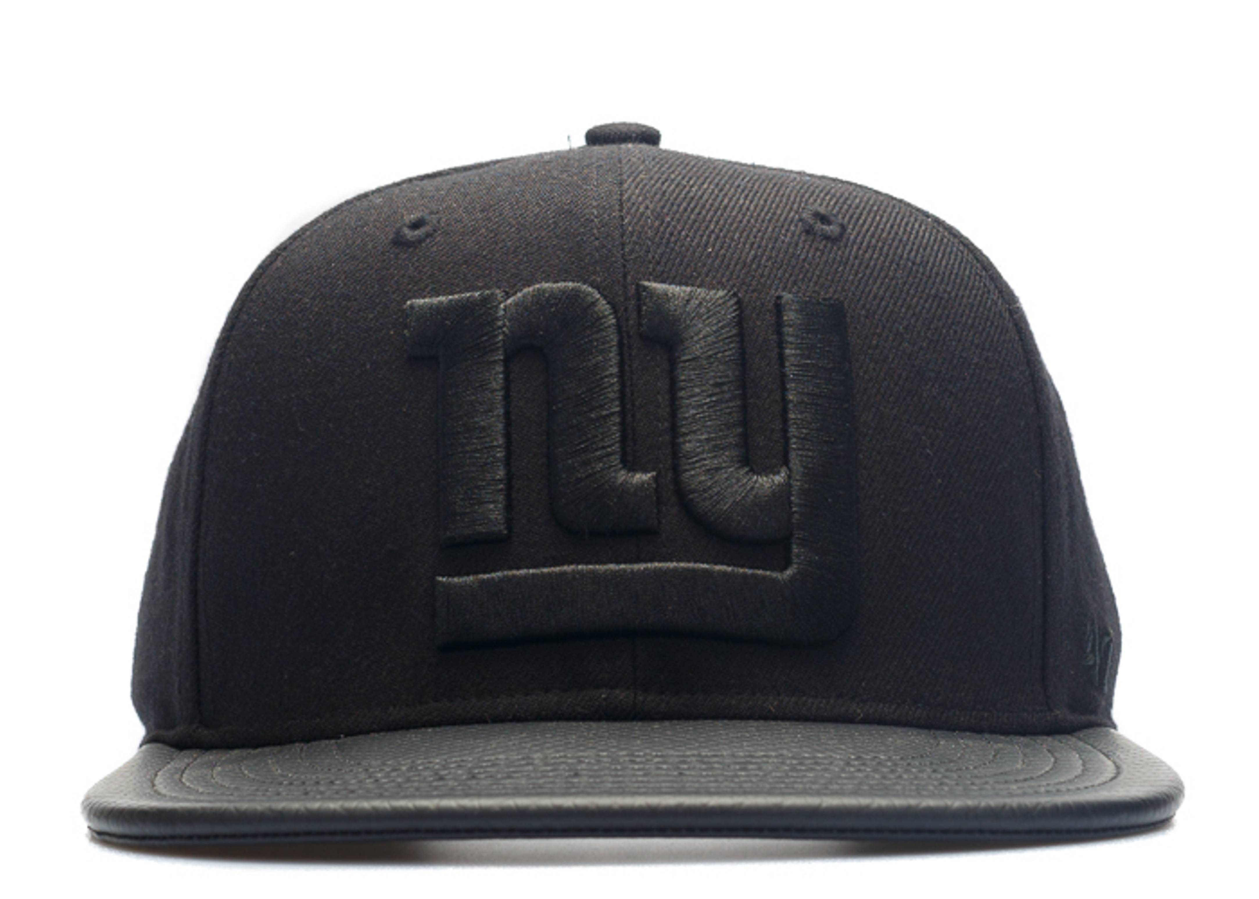 "new york giants strap-back ""leather brim"""