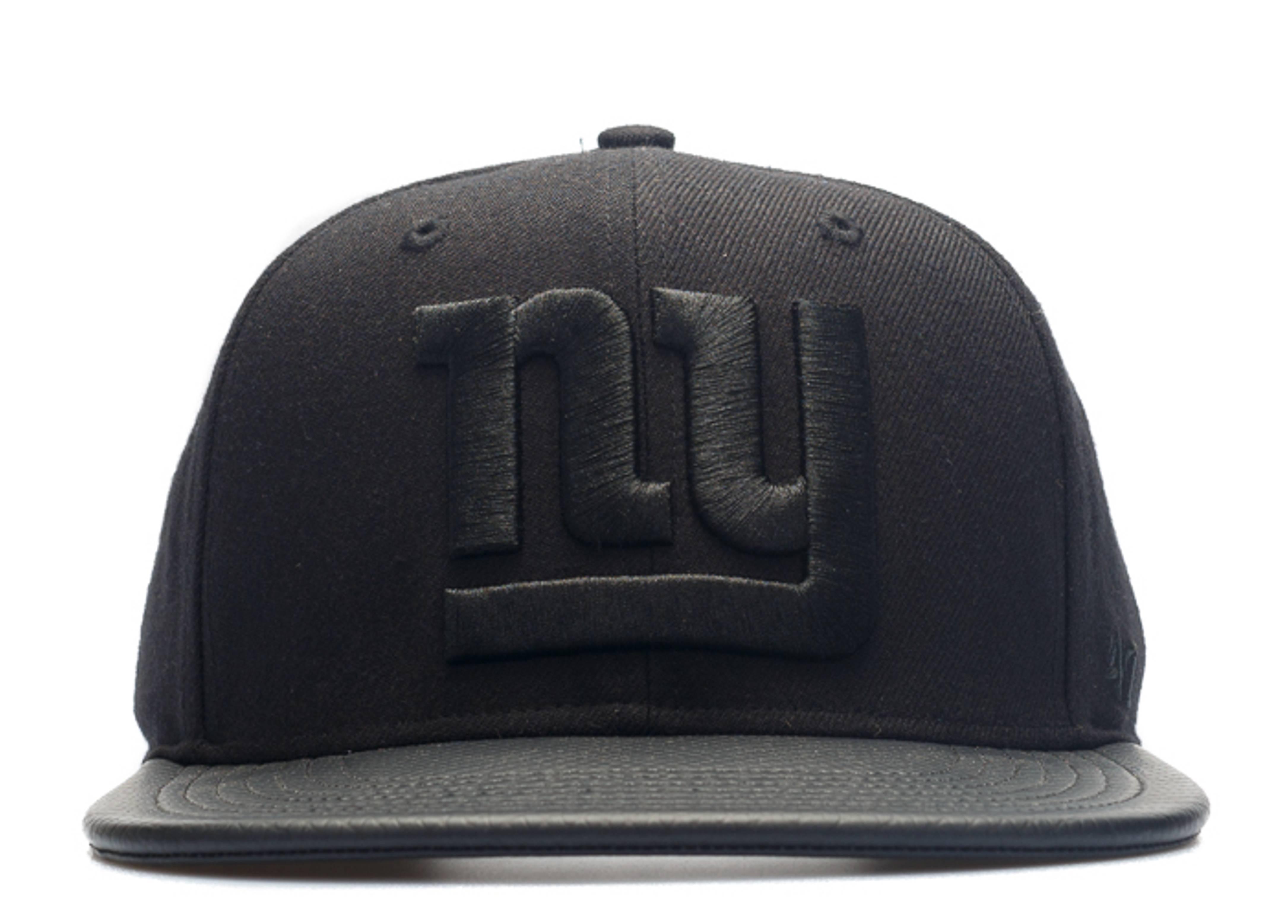 "new york giants strap-back ""leather brim"""