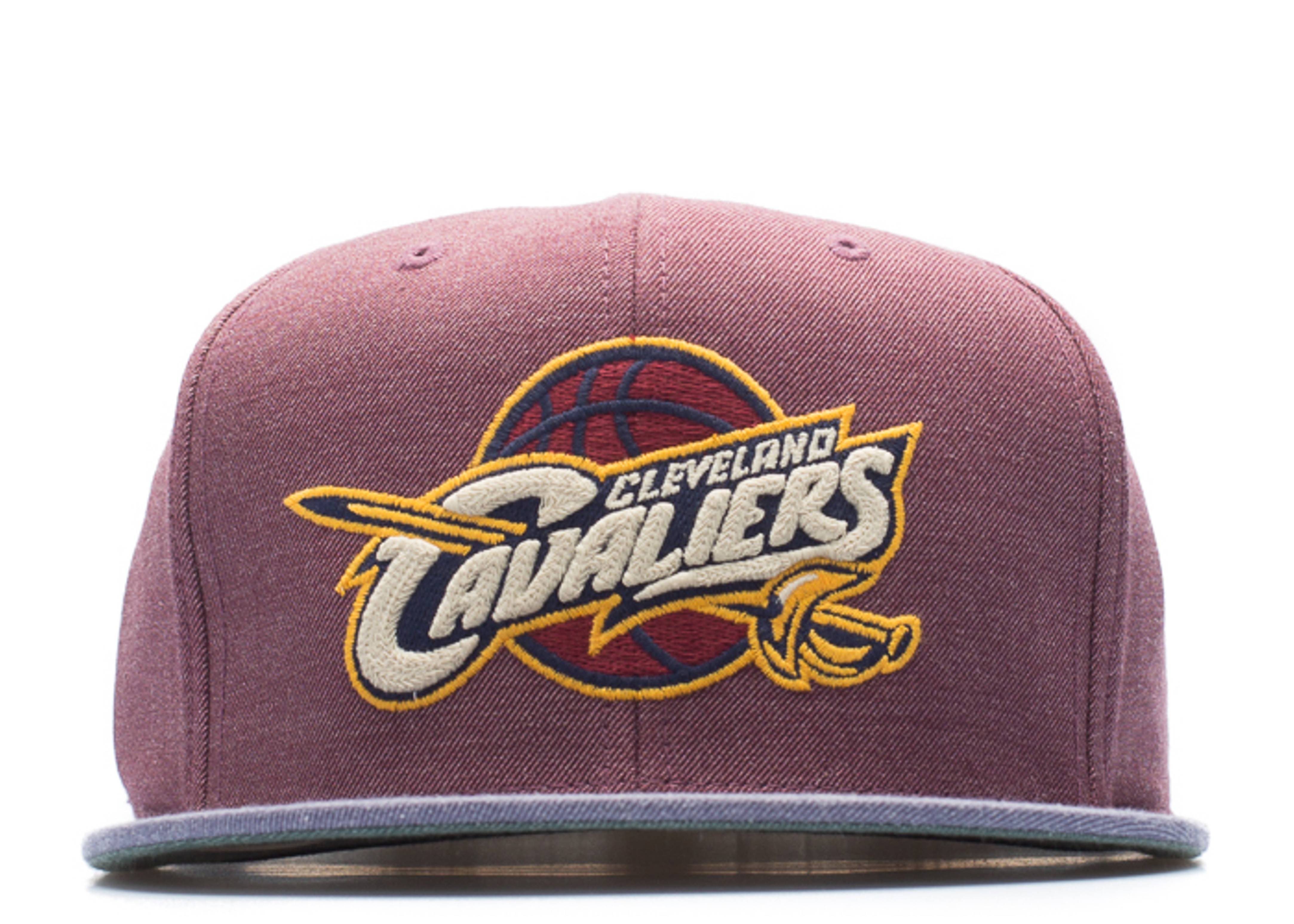 "cleveland cavaliers high crown fitted ""heather"""