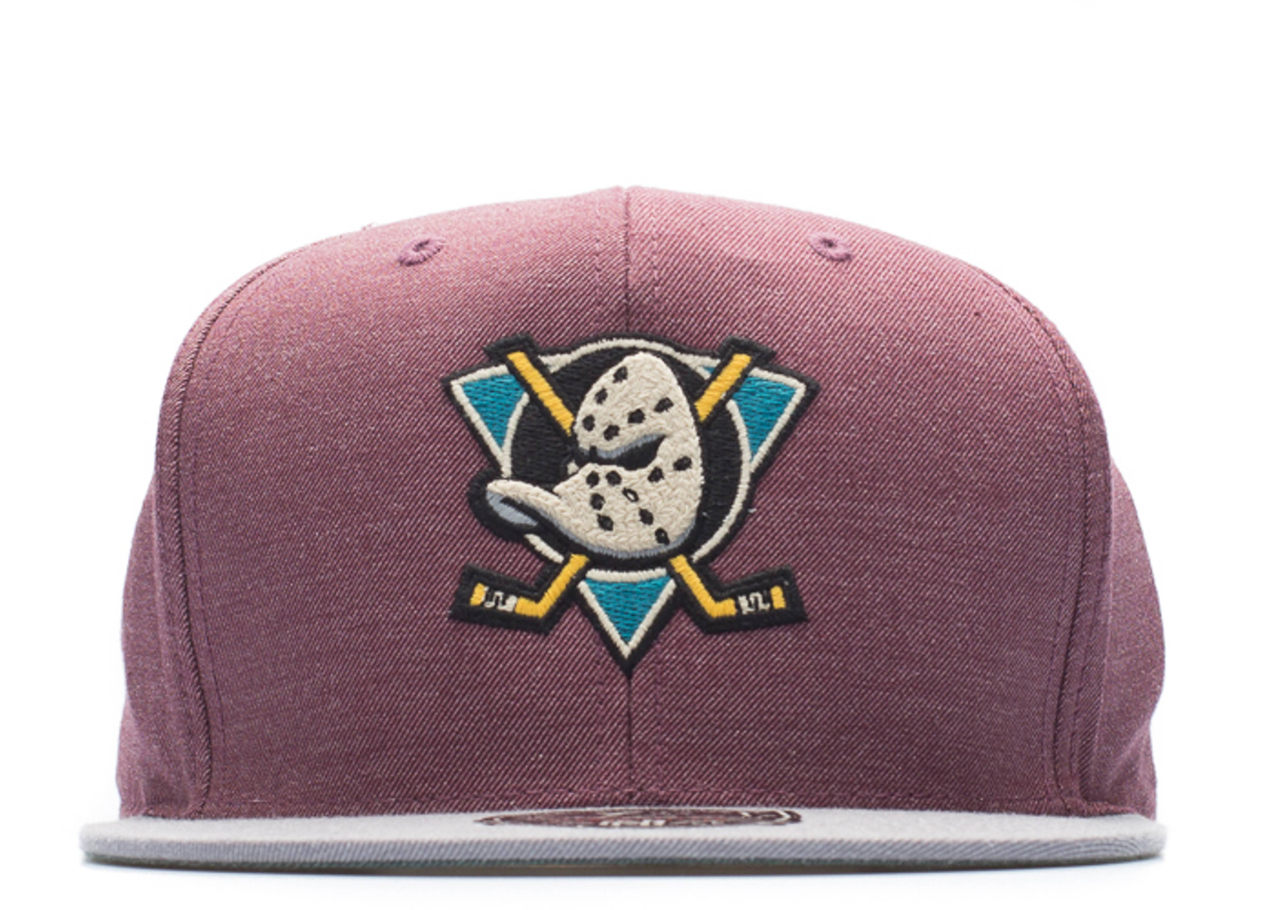 "anahiem ducks high crown fitted ""heather"""