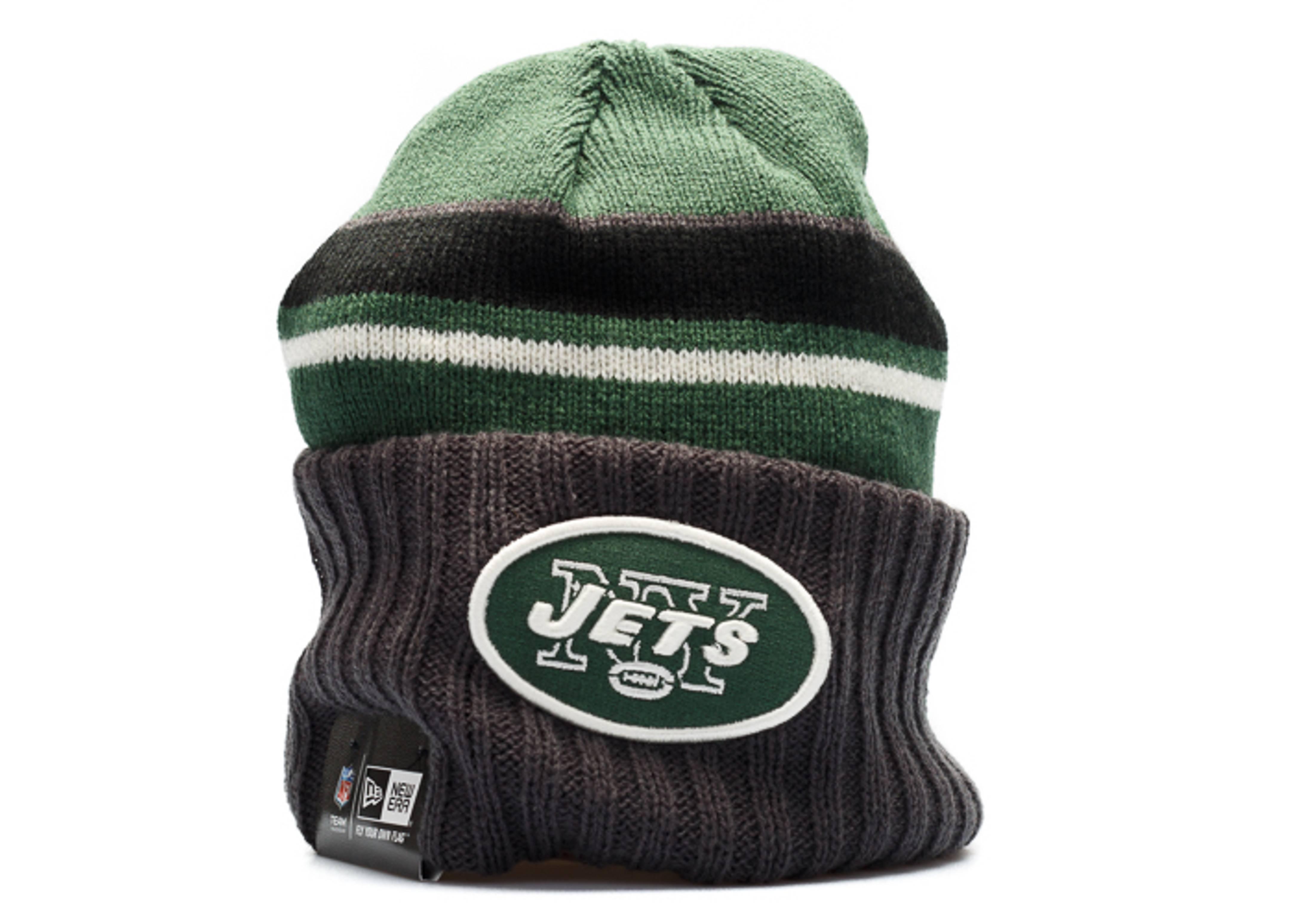 new york jets knit cuffed beanie