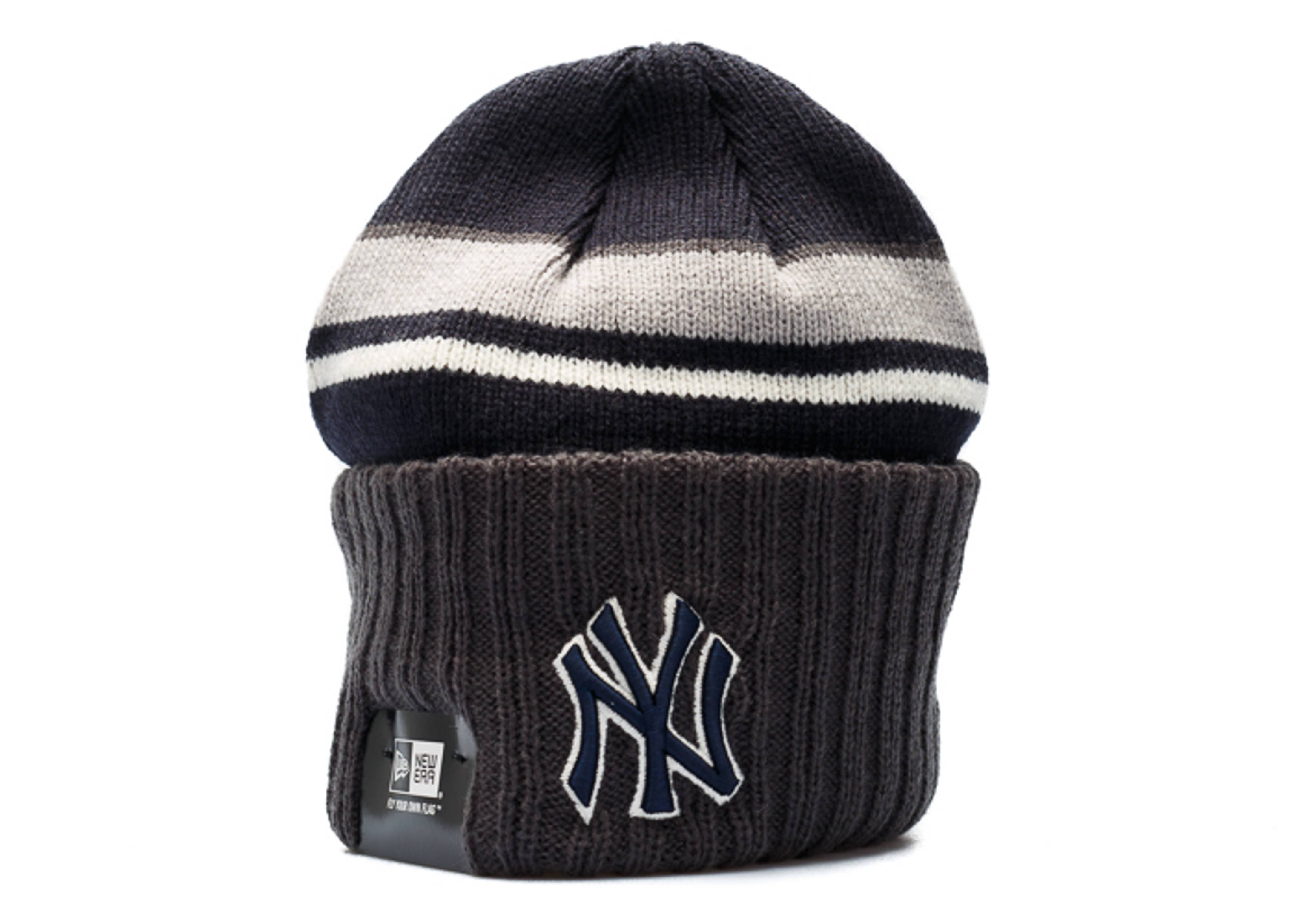 7432fbbab73 New era new york yankees knit cuffed beanie navy grey jpg 1600x1140 Yankee  cuffed beanie