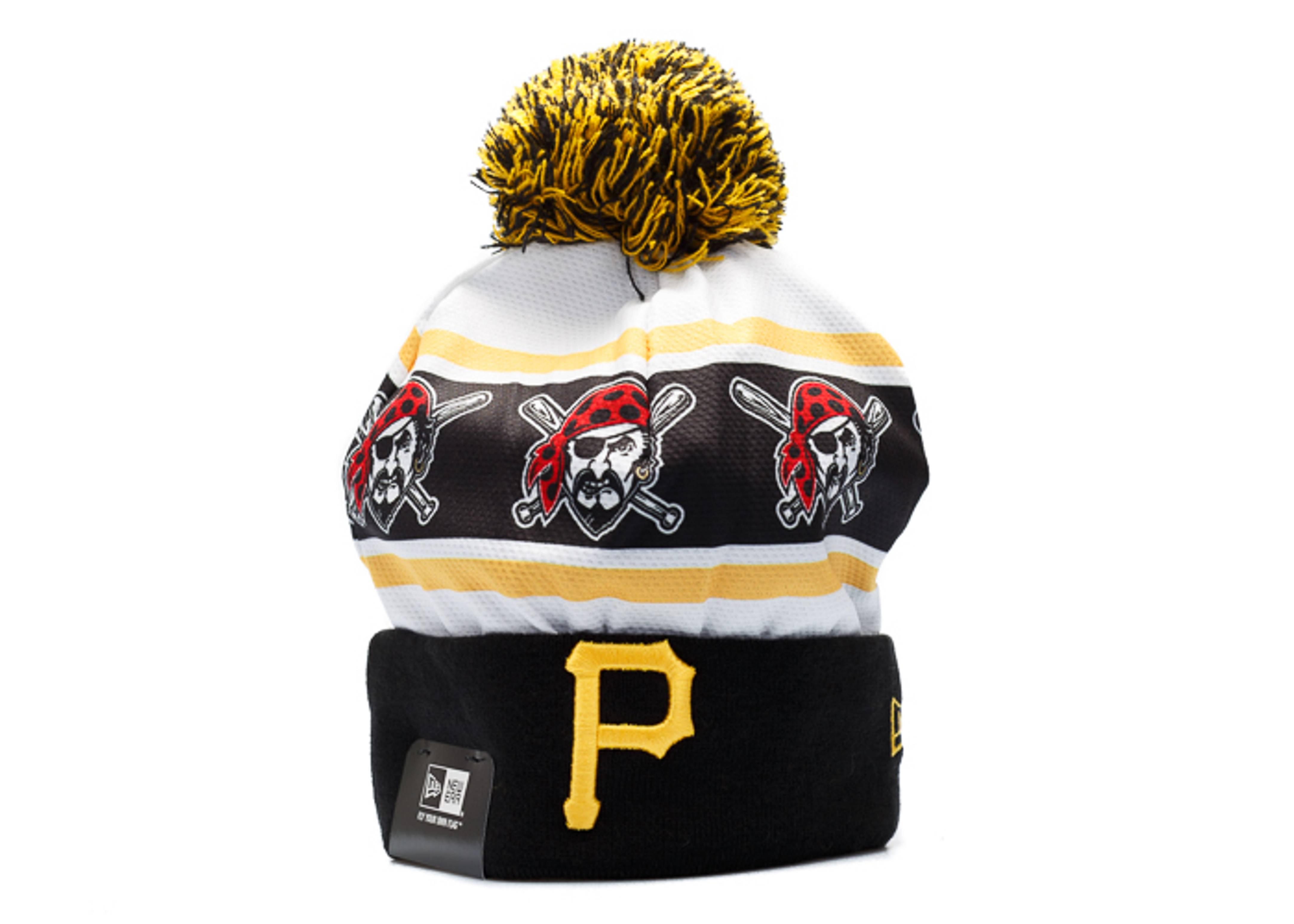 "pittsburgh pirates cuffed pom beanie ""logo jersey"""