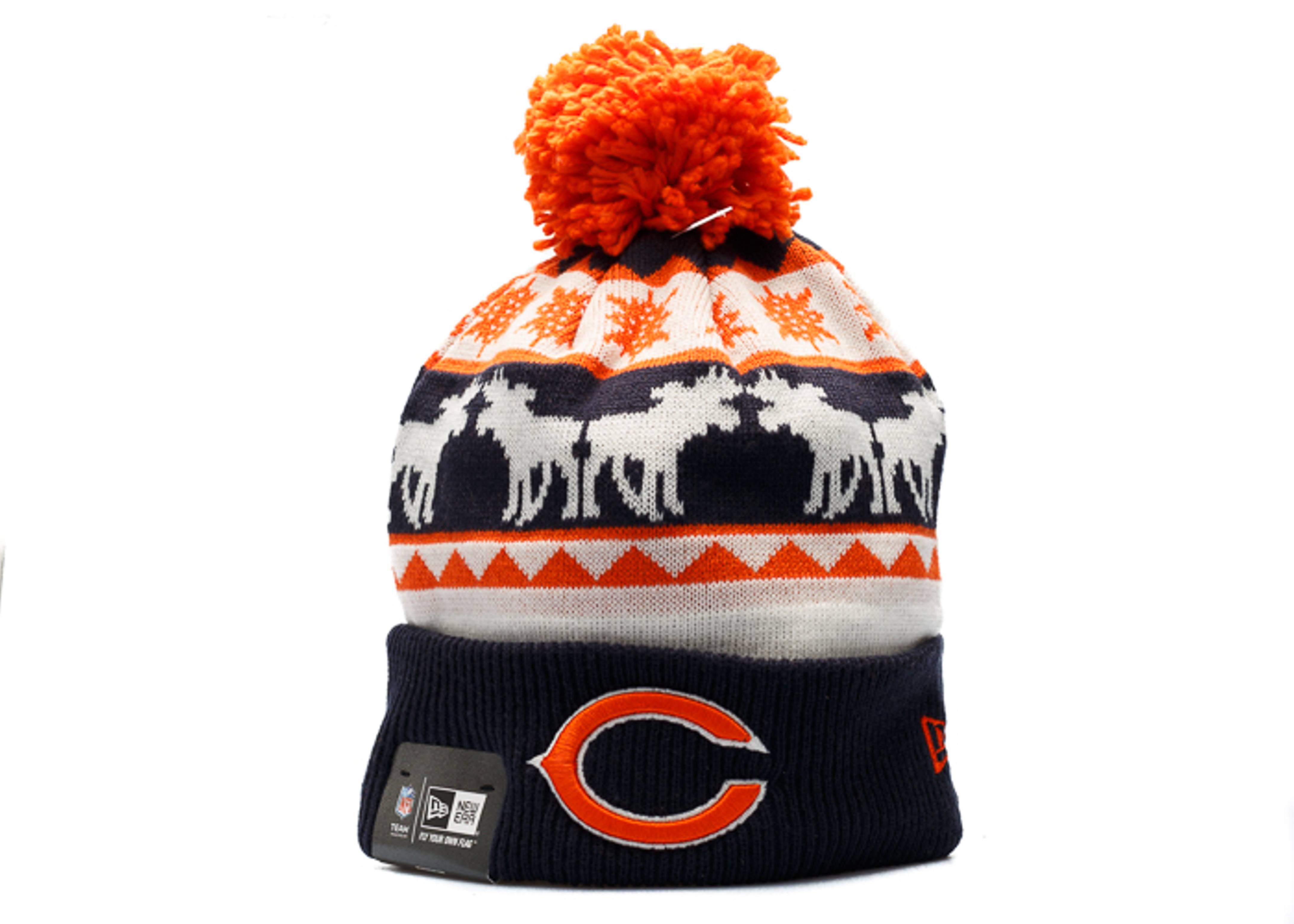 chicago bears knit cuffed pom beanie