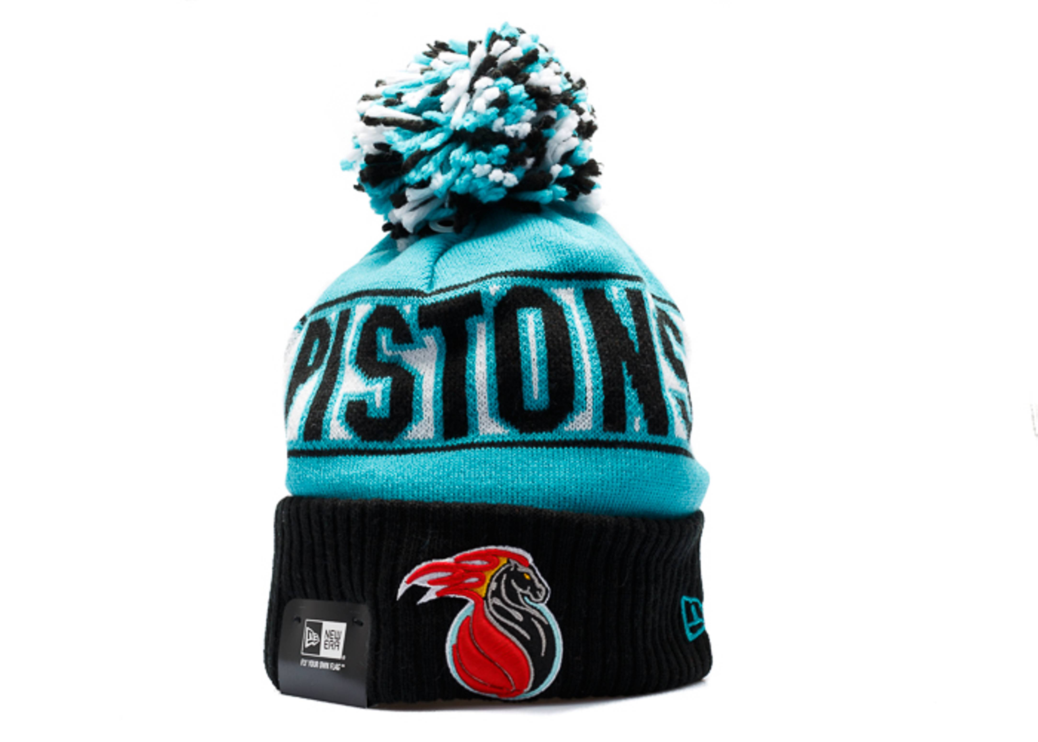 finest selection 741a5 1805c ... shop detroit pistons knit cuffed pom beanie 17d6f 5add8