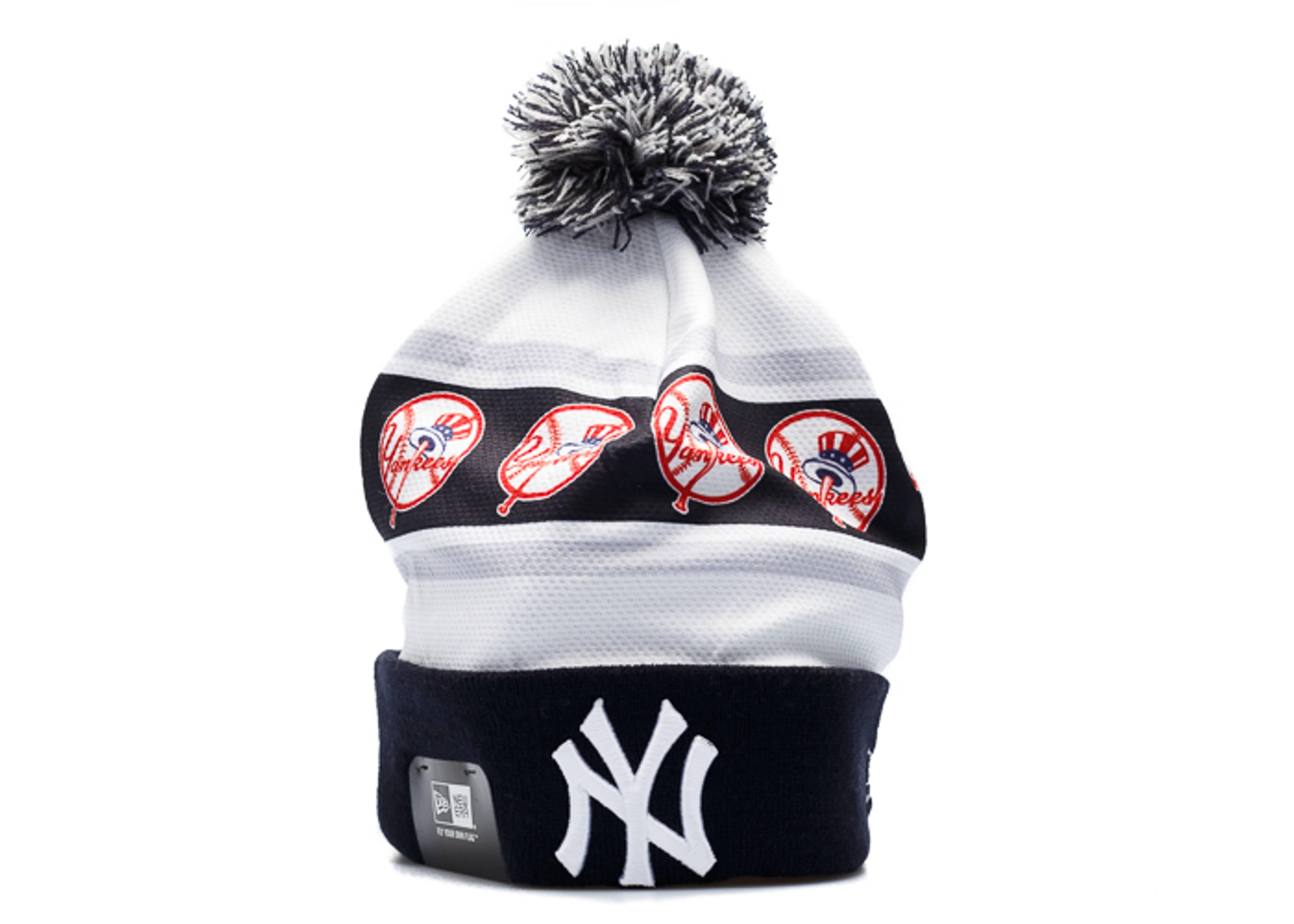 "new york yankees cuffed pom beanie ""logo jersey"""