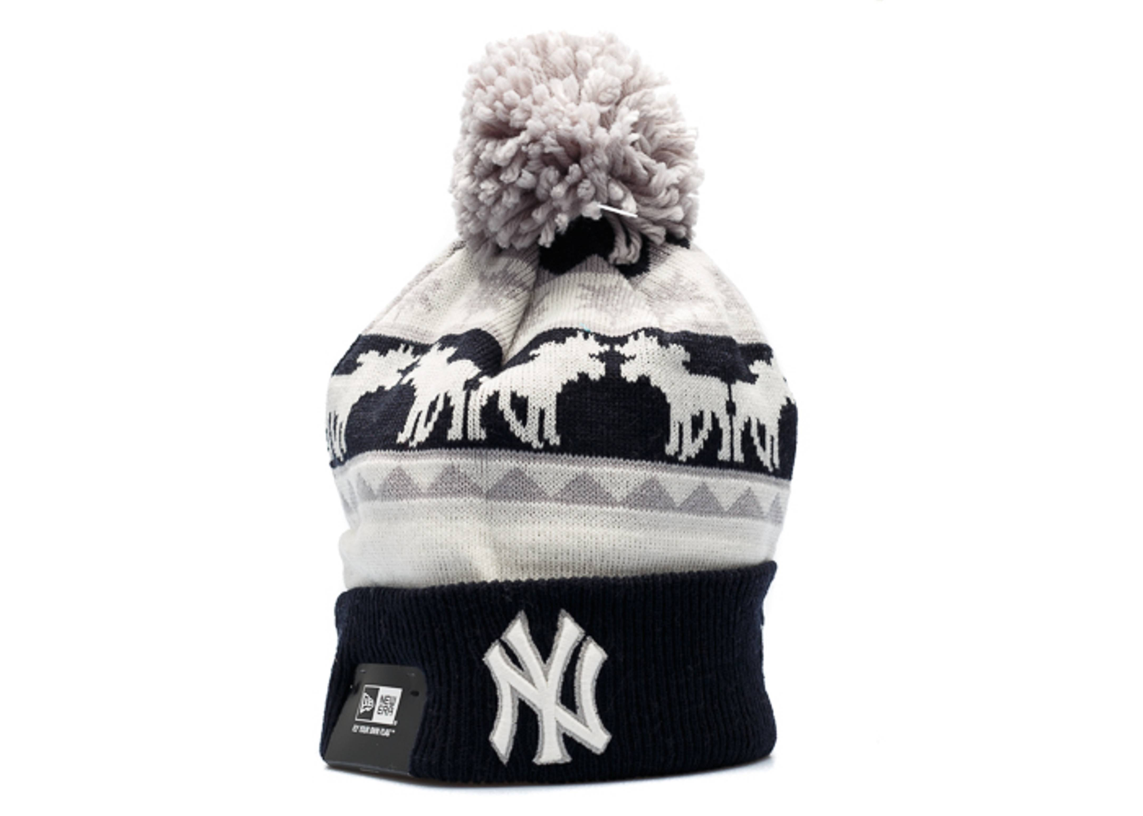 new york yankees knit cuffed pom beanie