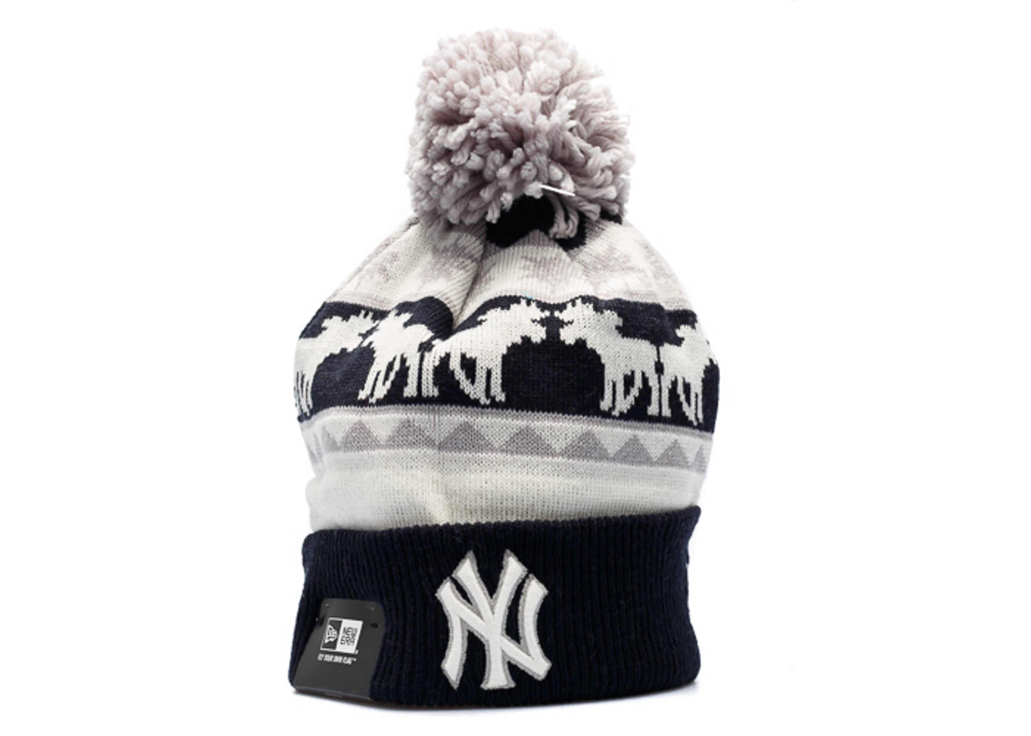 new york yankees knit cuffed pom beanie