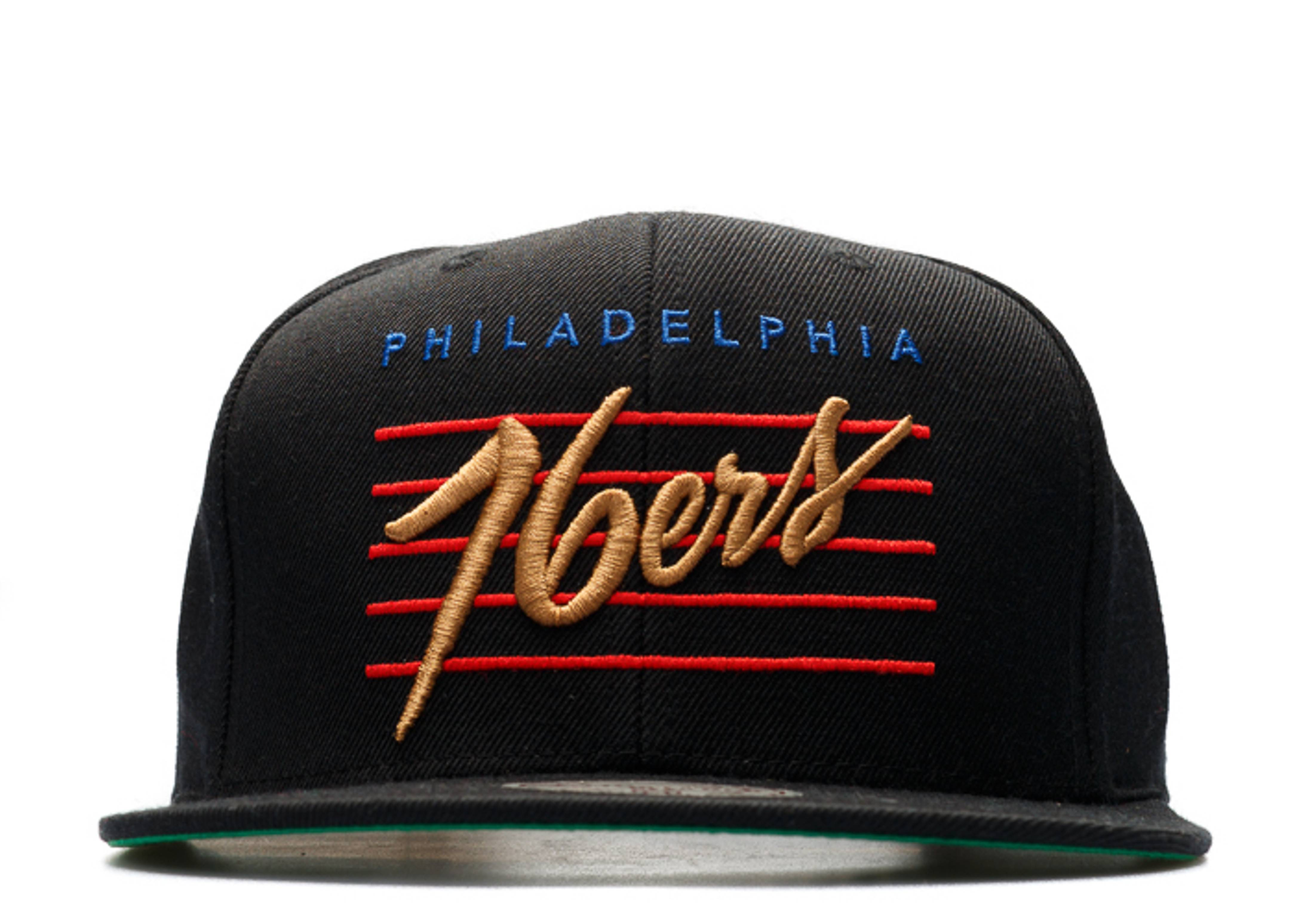 "philadelphia 76ers snap-back ""retro script"""