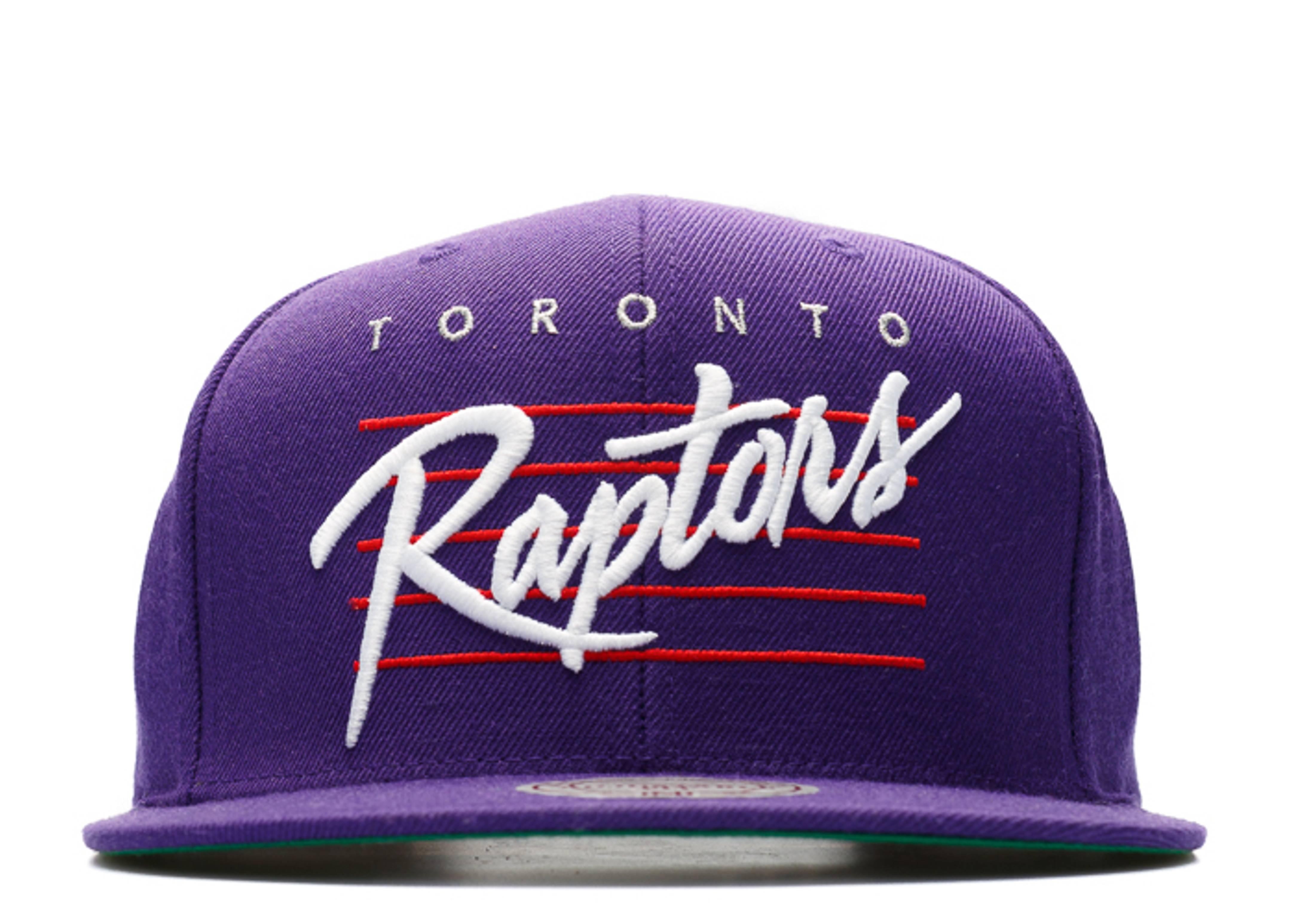 "toronto raptors snap-back ""retro script"""