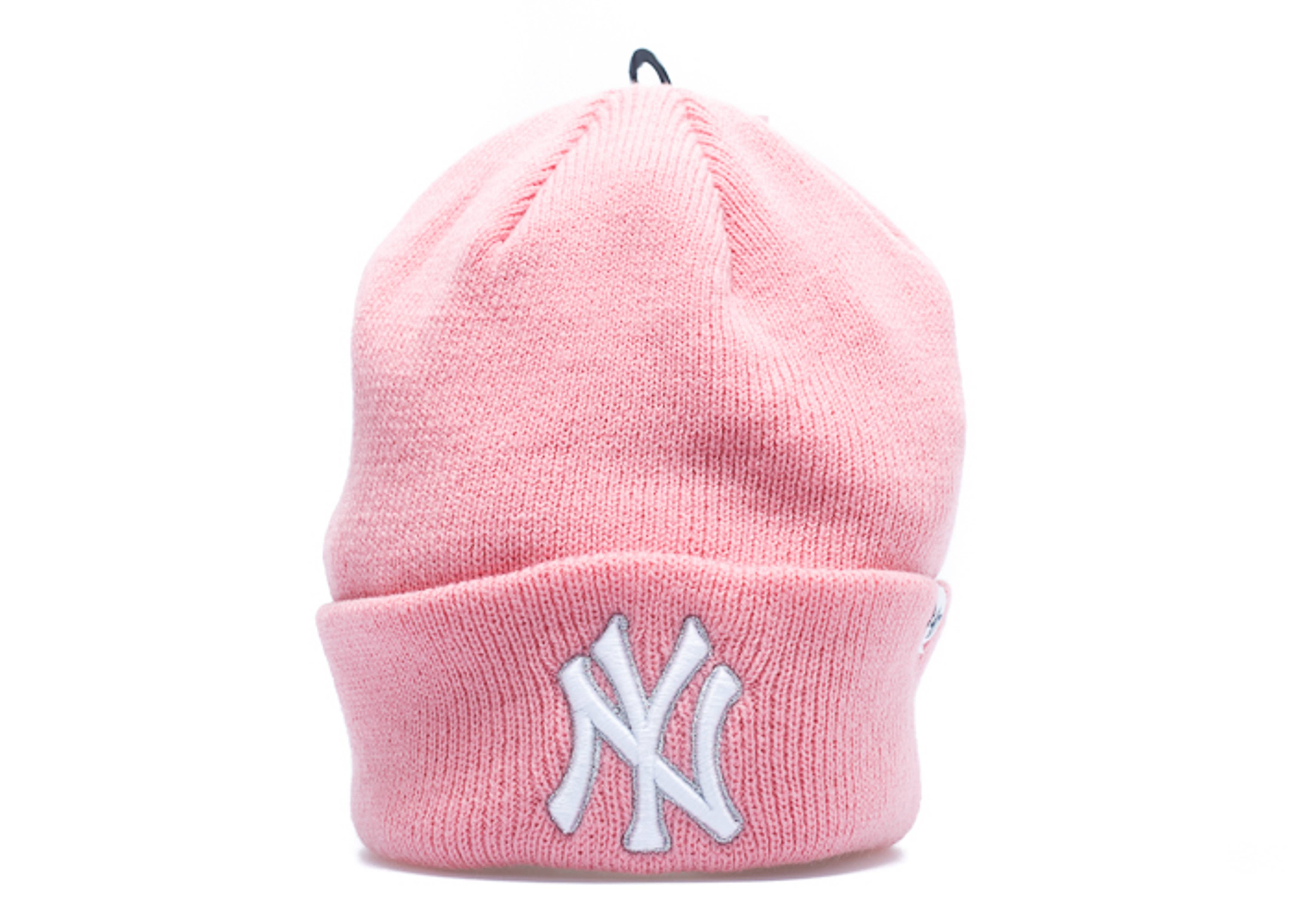6efa162b4c8 New York Yankees Cuffed Knit Beanie - 47 Brand - brkn17acers - pink ...