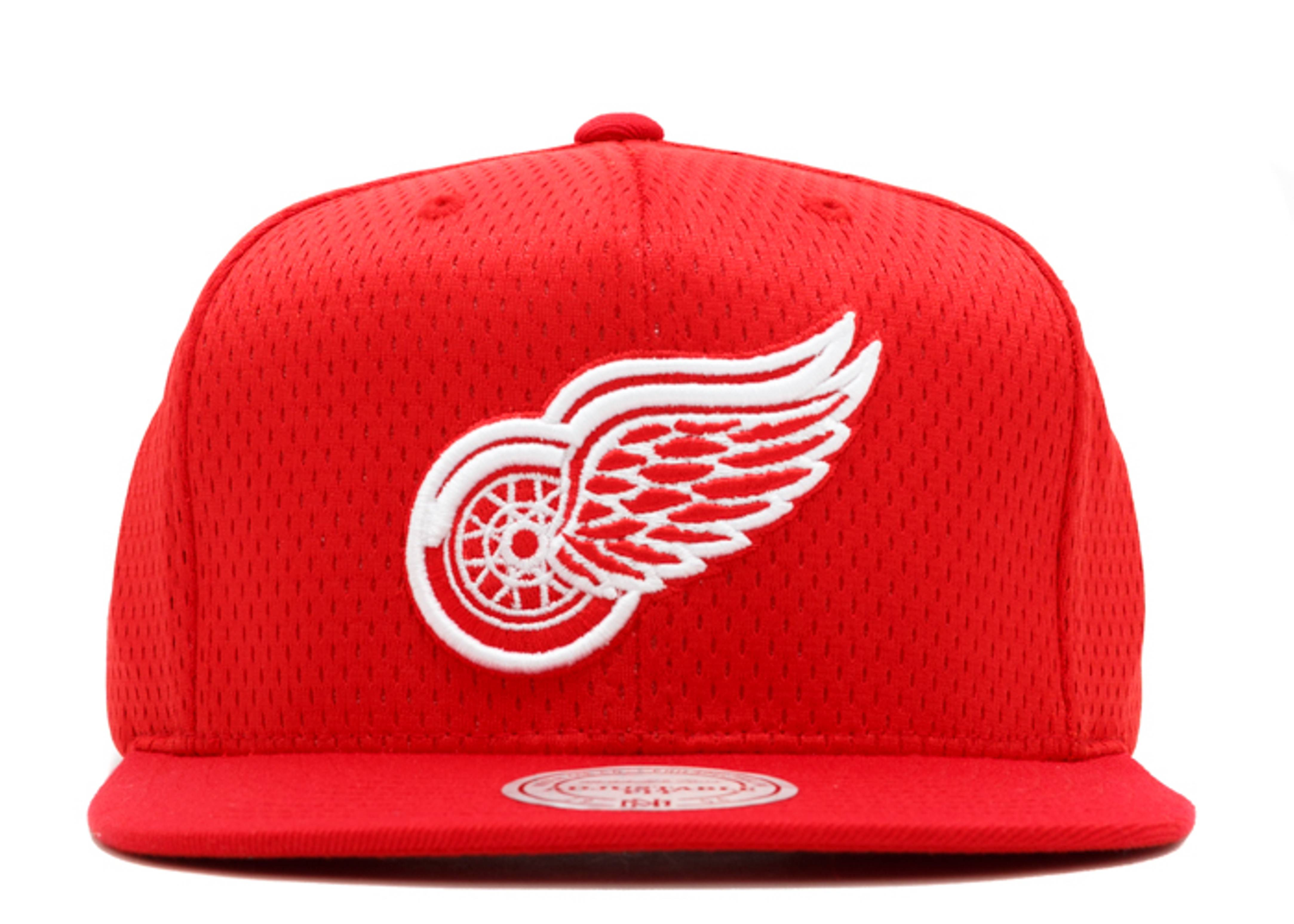 """detroit red wings snap-back """"jersey mesh"""""""