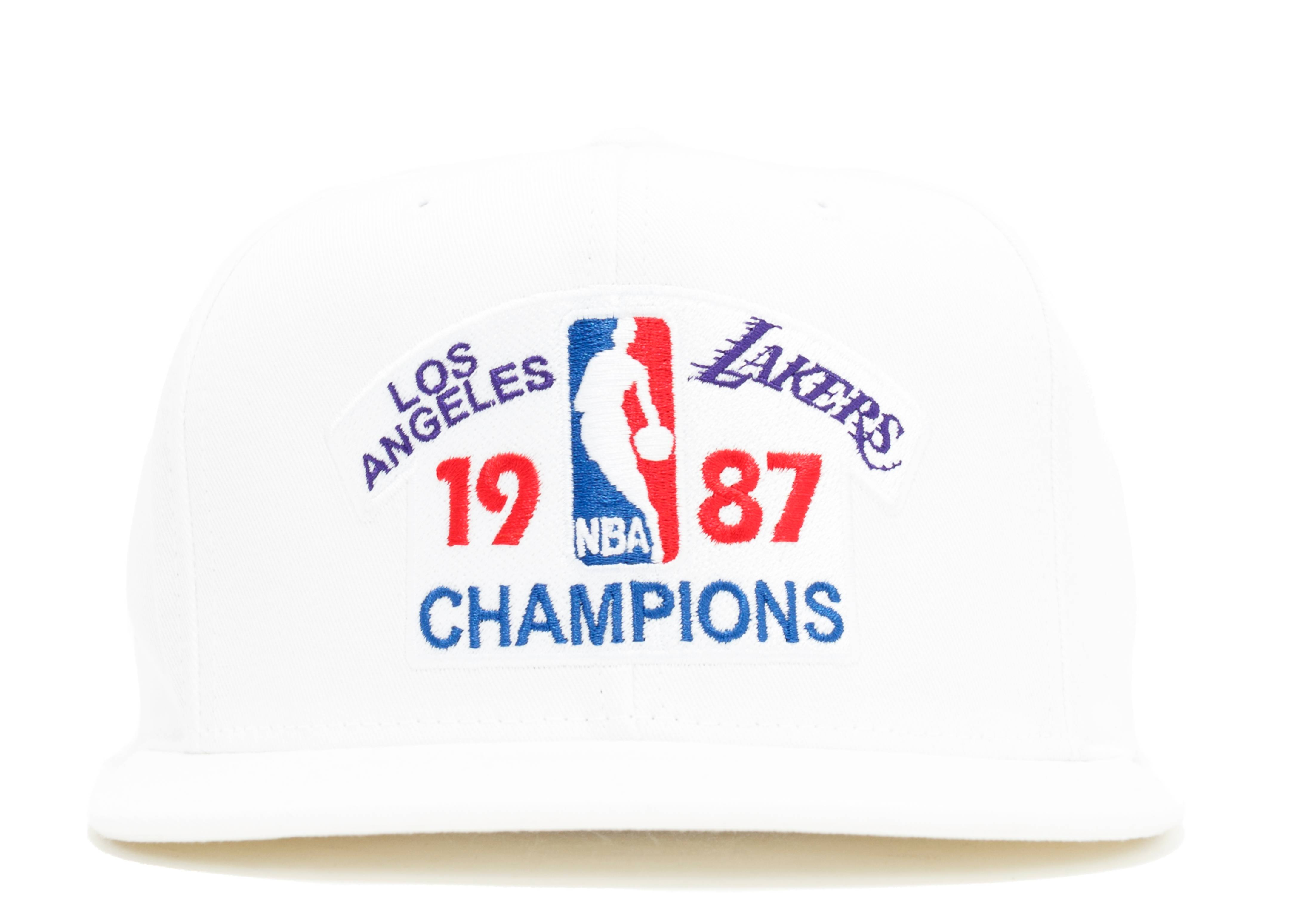 los angeles lakers snap-back white/white