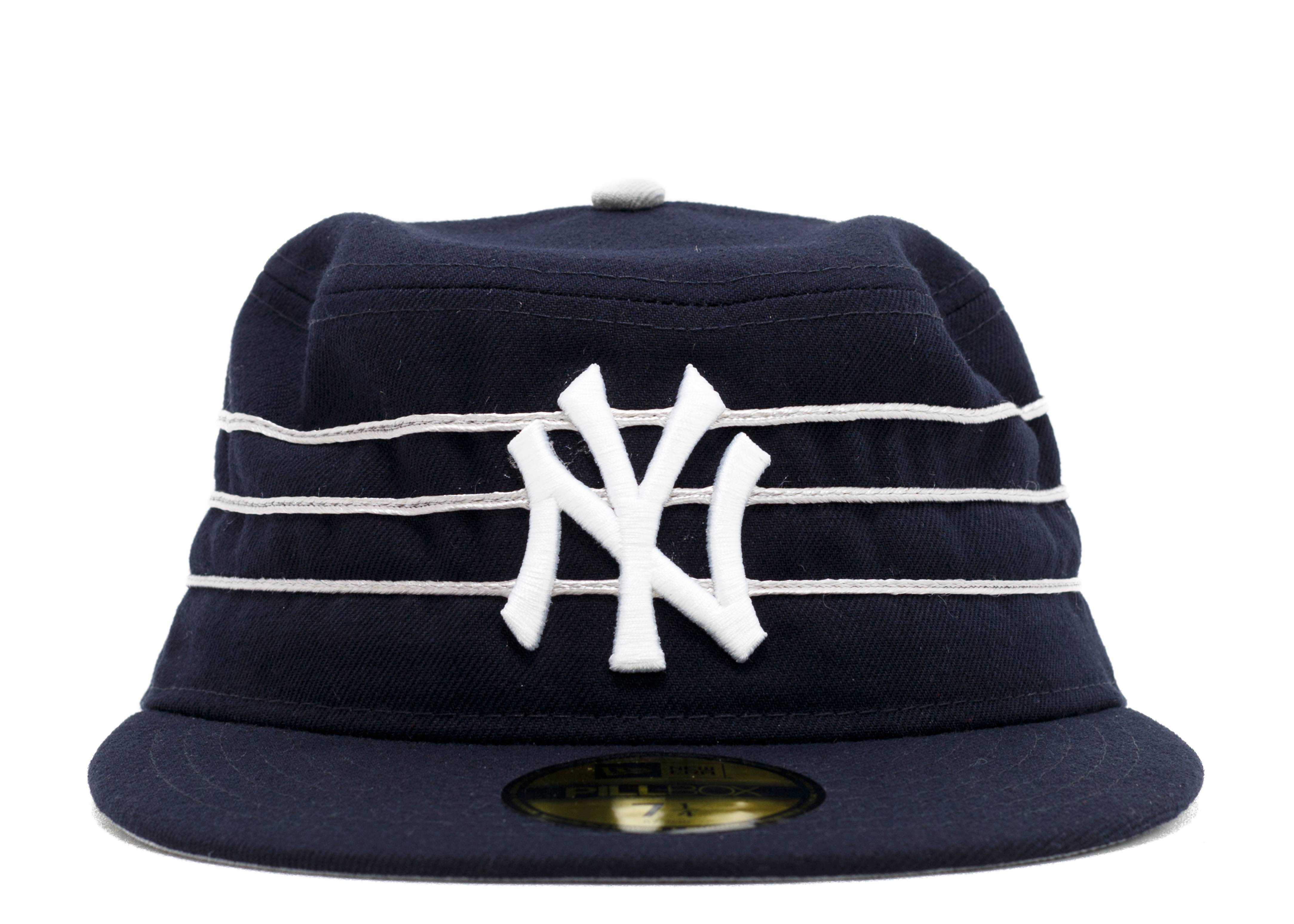 new york yankees pill box fitted