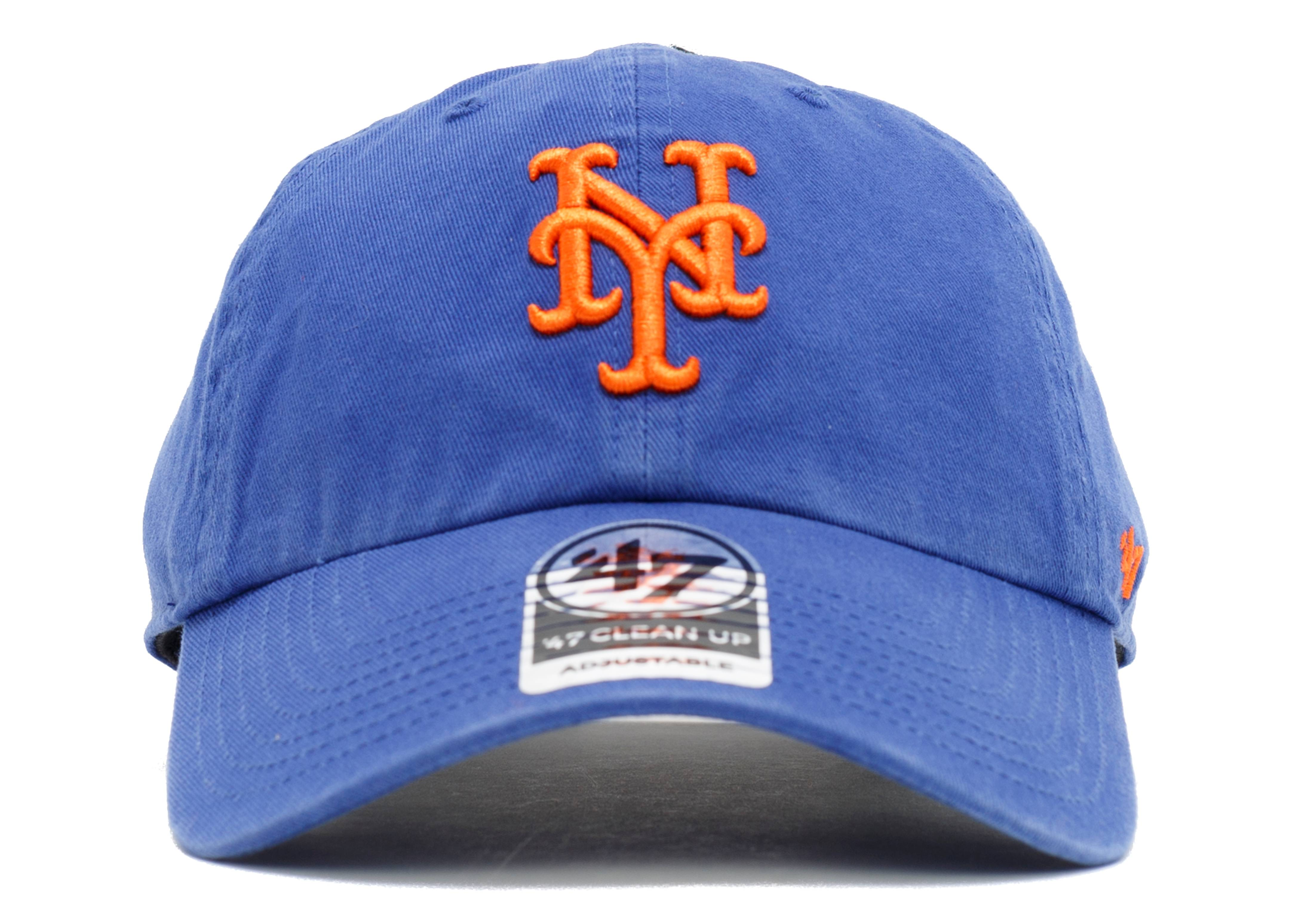 """new york mets strap-back """"leather strap"""""""