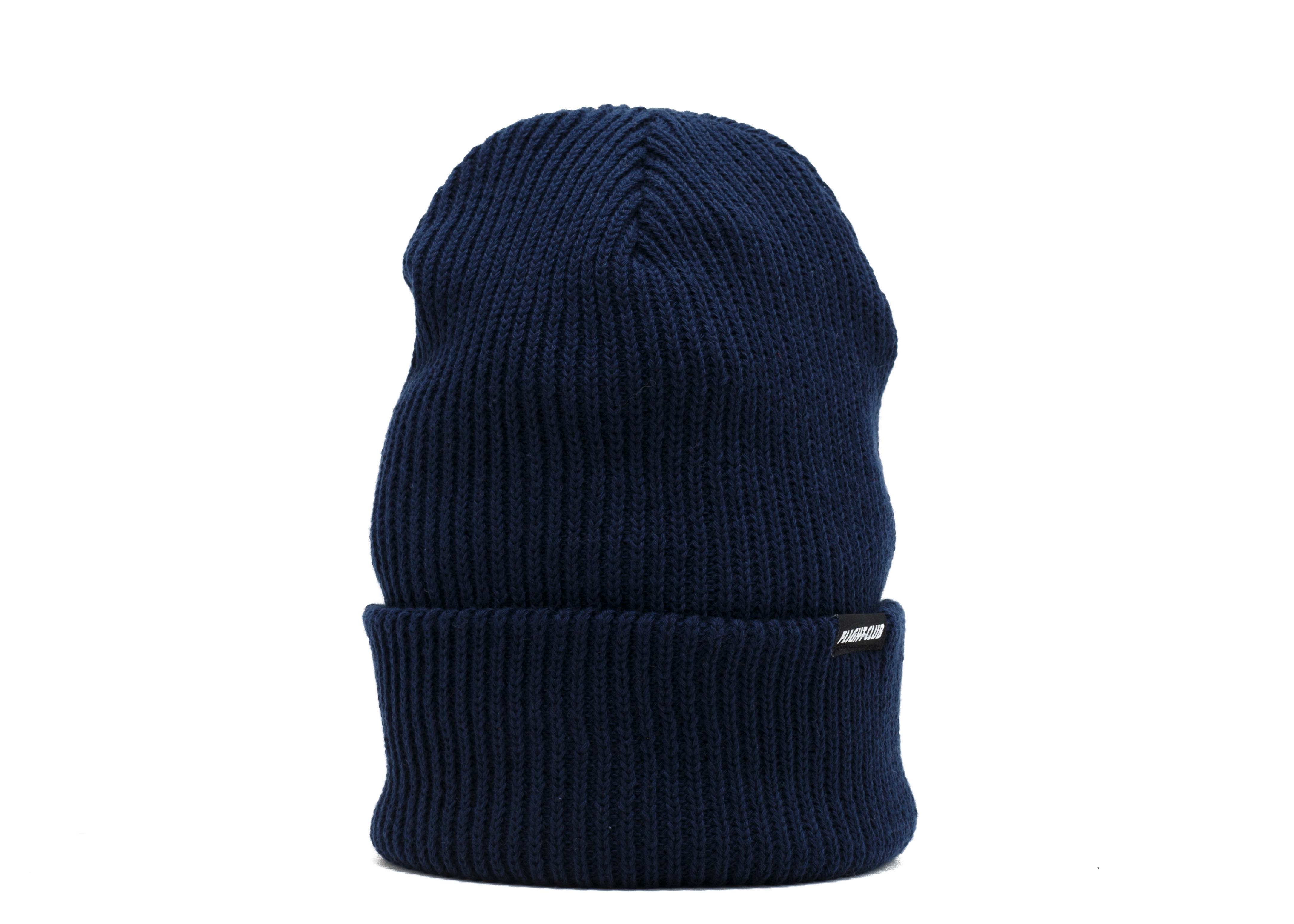 black tab knit beanie
