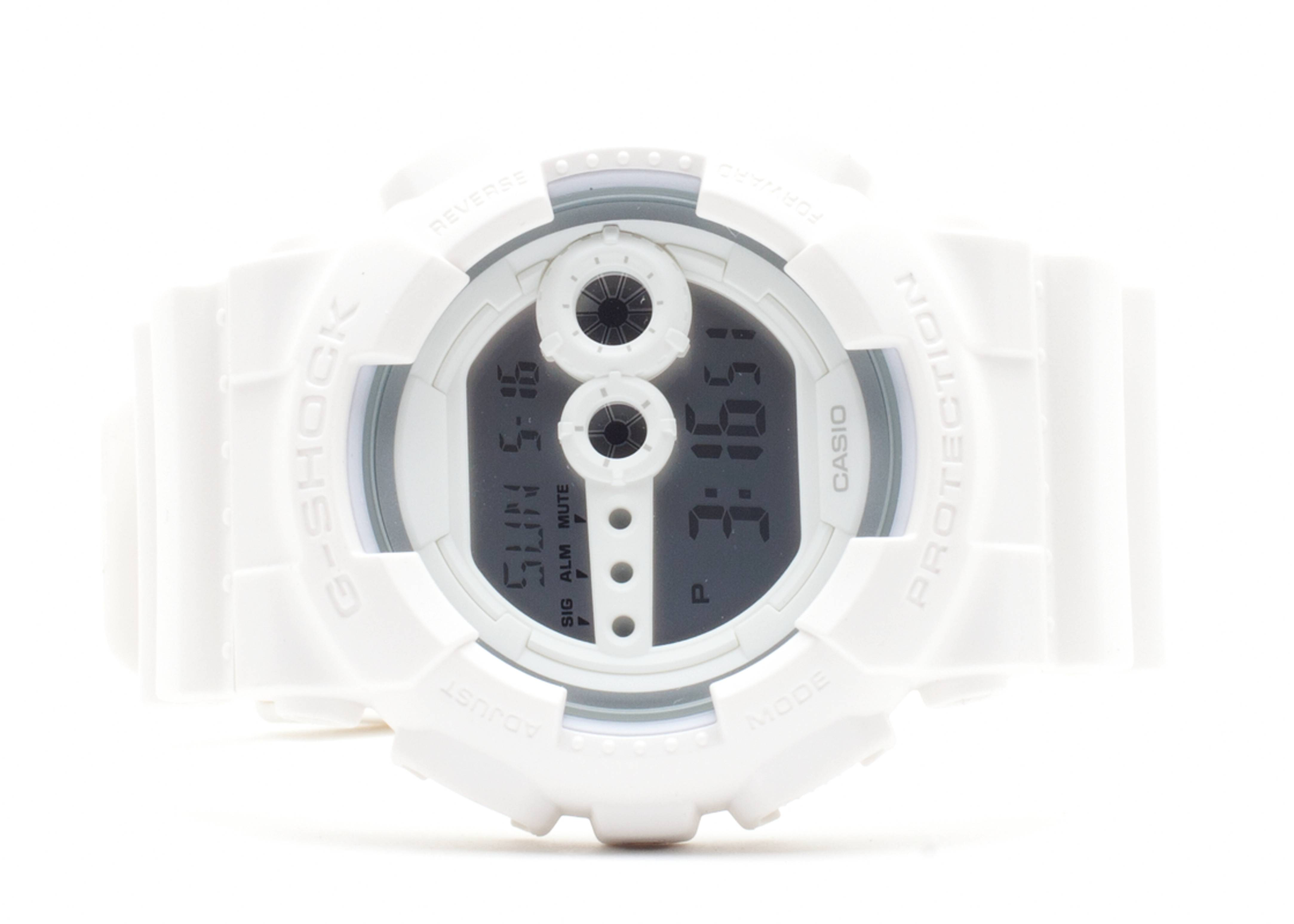 """g-shock gd100ww7cr """"whiteout pack"""""""