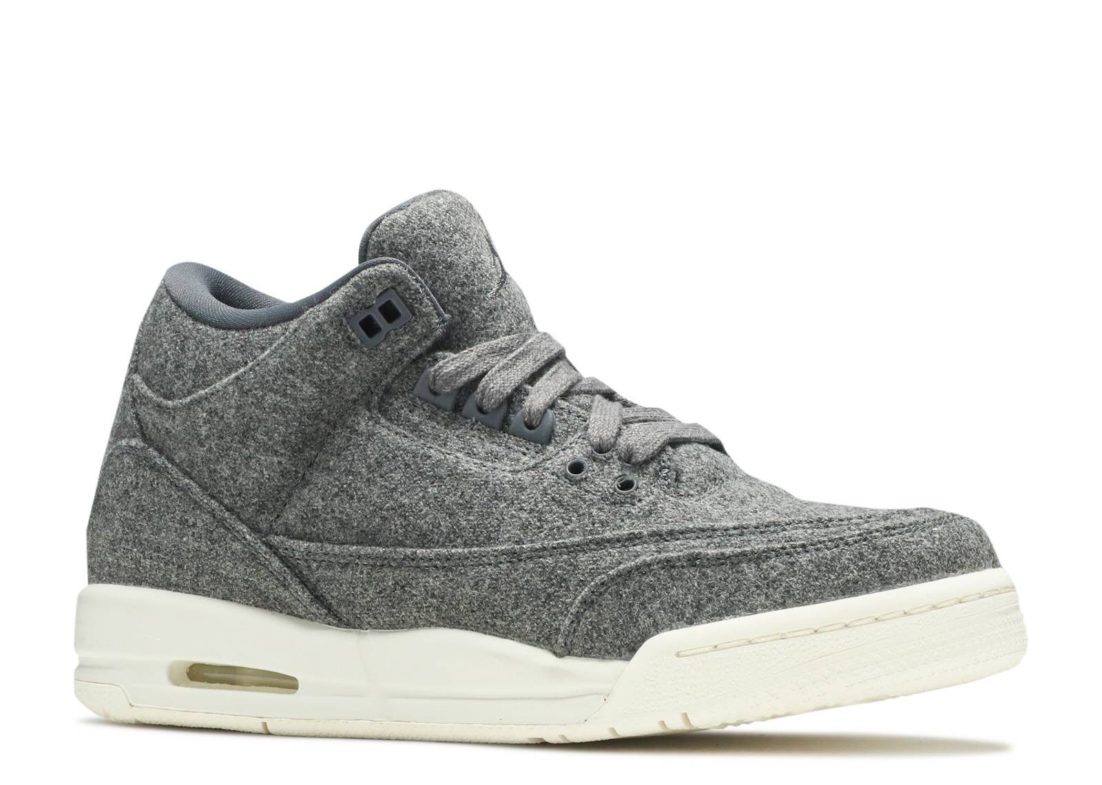 Nike Air Jordan III 3 Retro Wool BG Dark Grey//Sail Wool 861427-004 GS SZ 5Y
