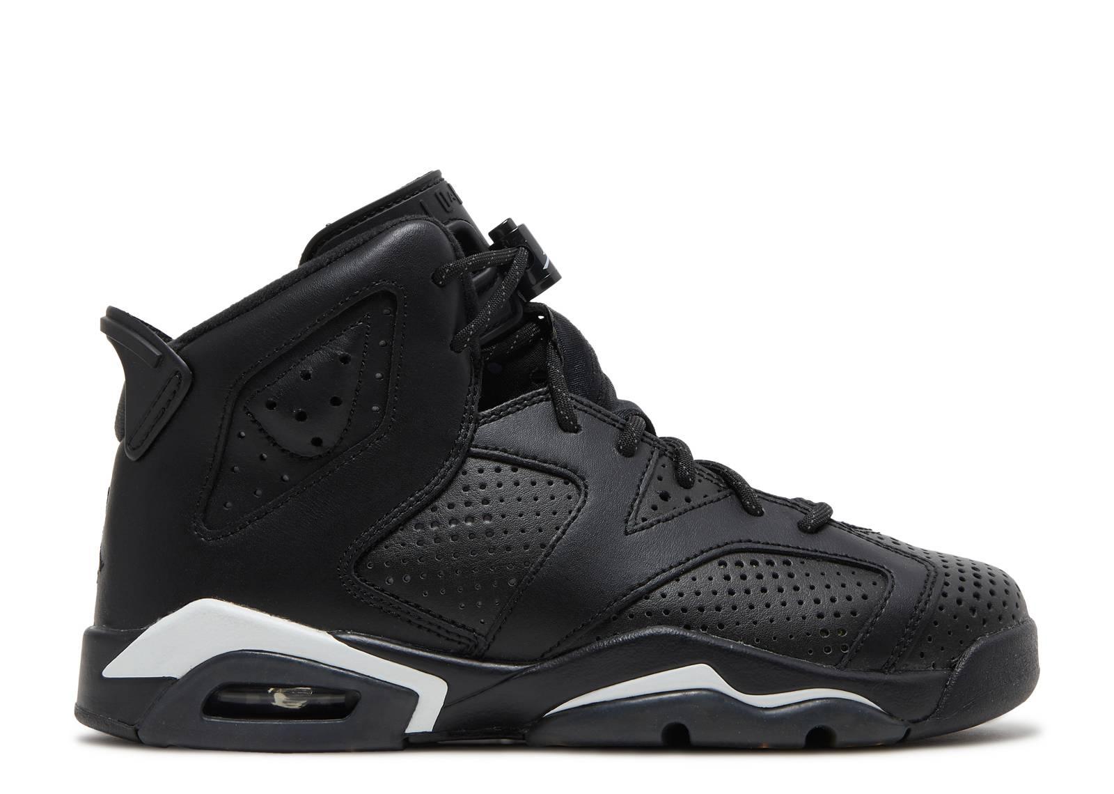 Nike Air Jordan Retro 6 Carreaux Noir Et Blanc