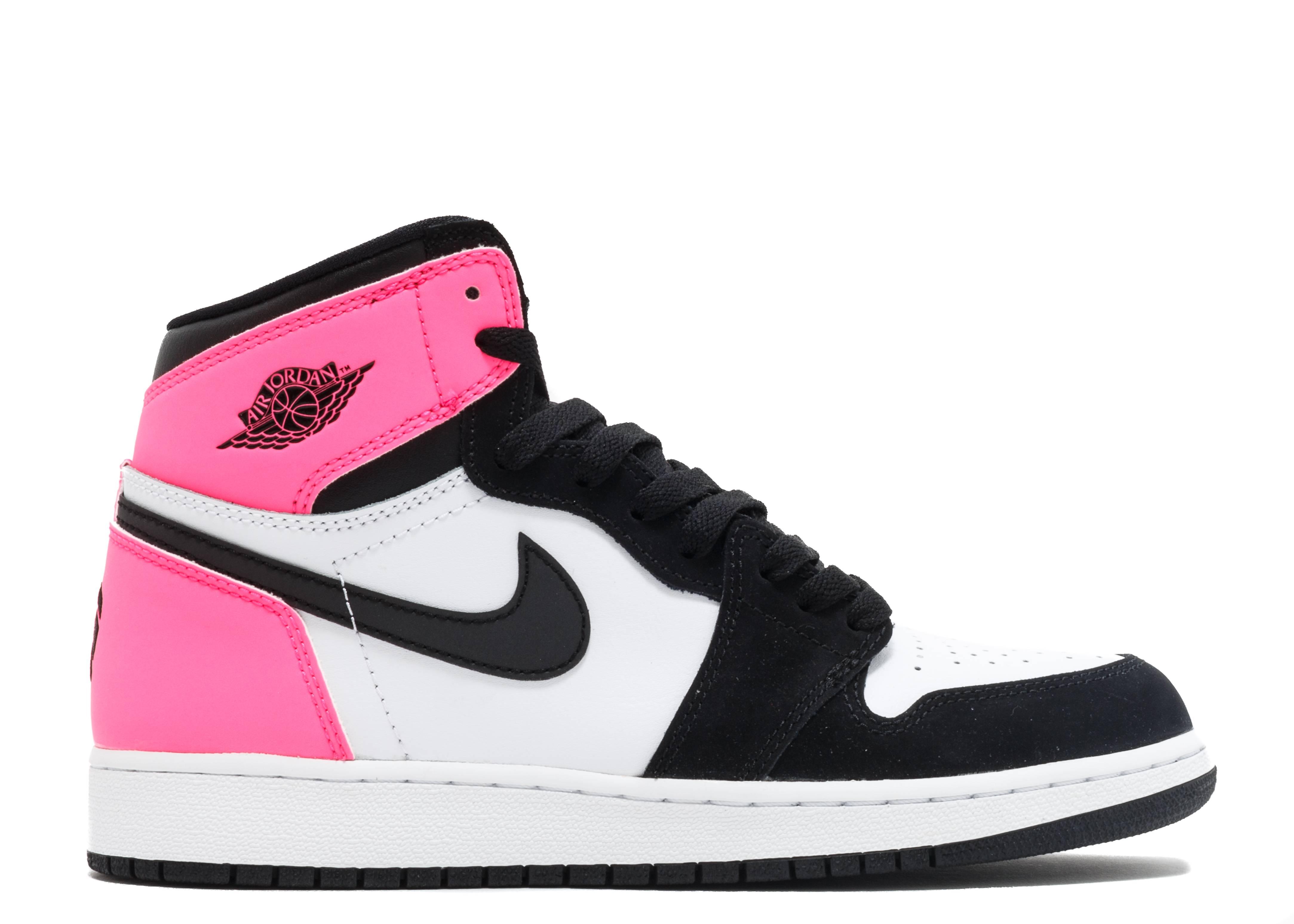 air jordan 1 retro high og gg (gs) black/black-hyper pink-white
