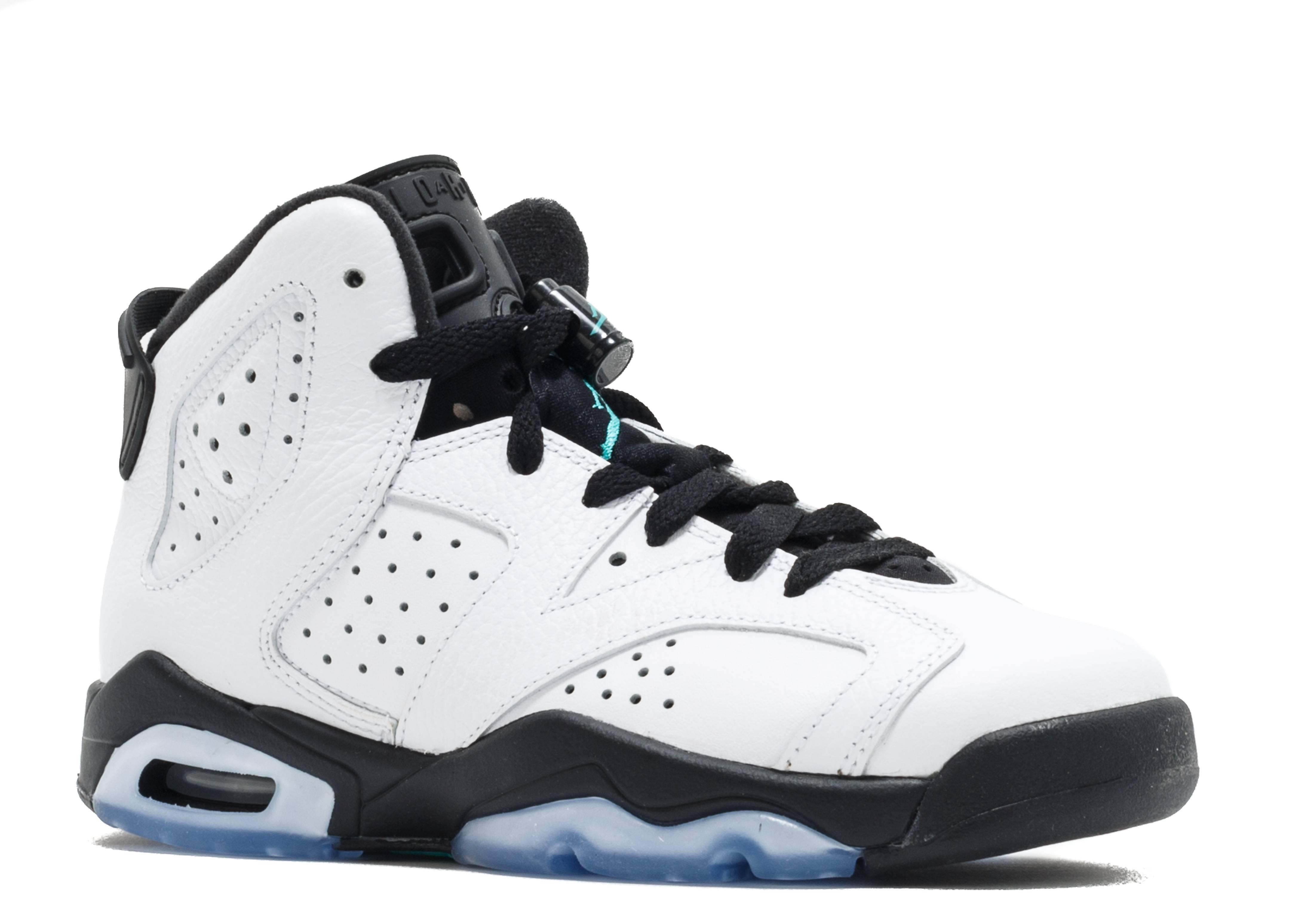 sports shoes 81627 97704 ... uk air jordan retro 6 bg gs hyper jade air jordan 384665 122 white  white hyper