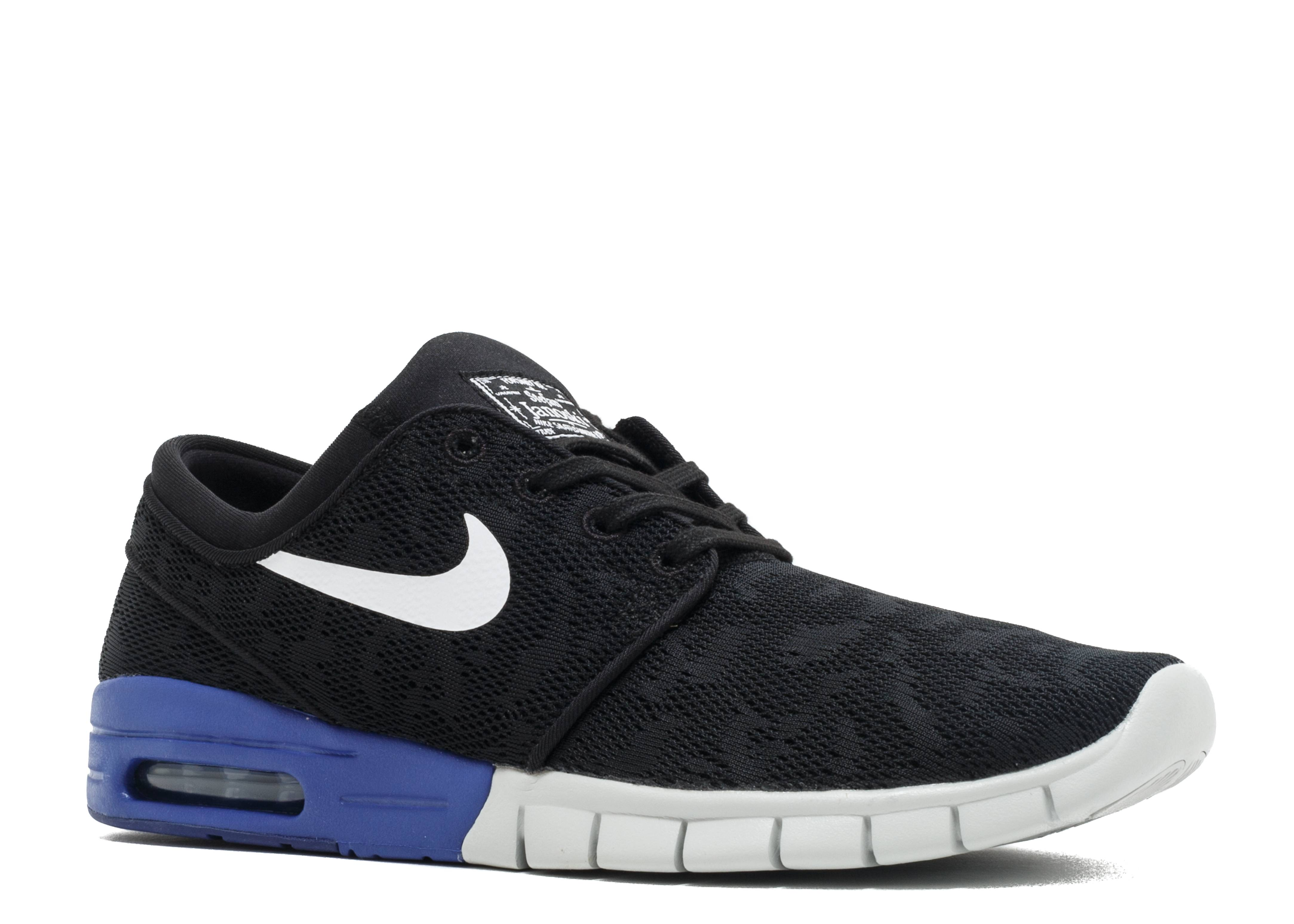 Nike SB Stefan Janoski Max Black Deep Night Blue White Sz 9.5 631303-015