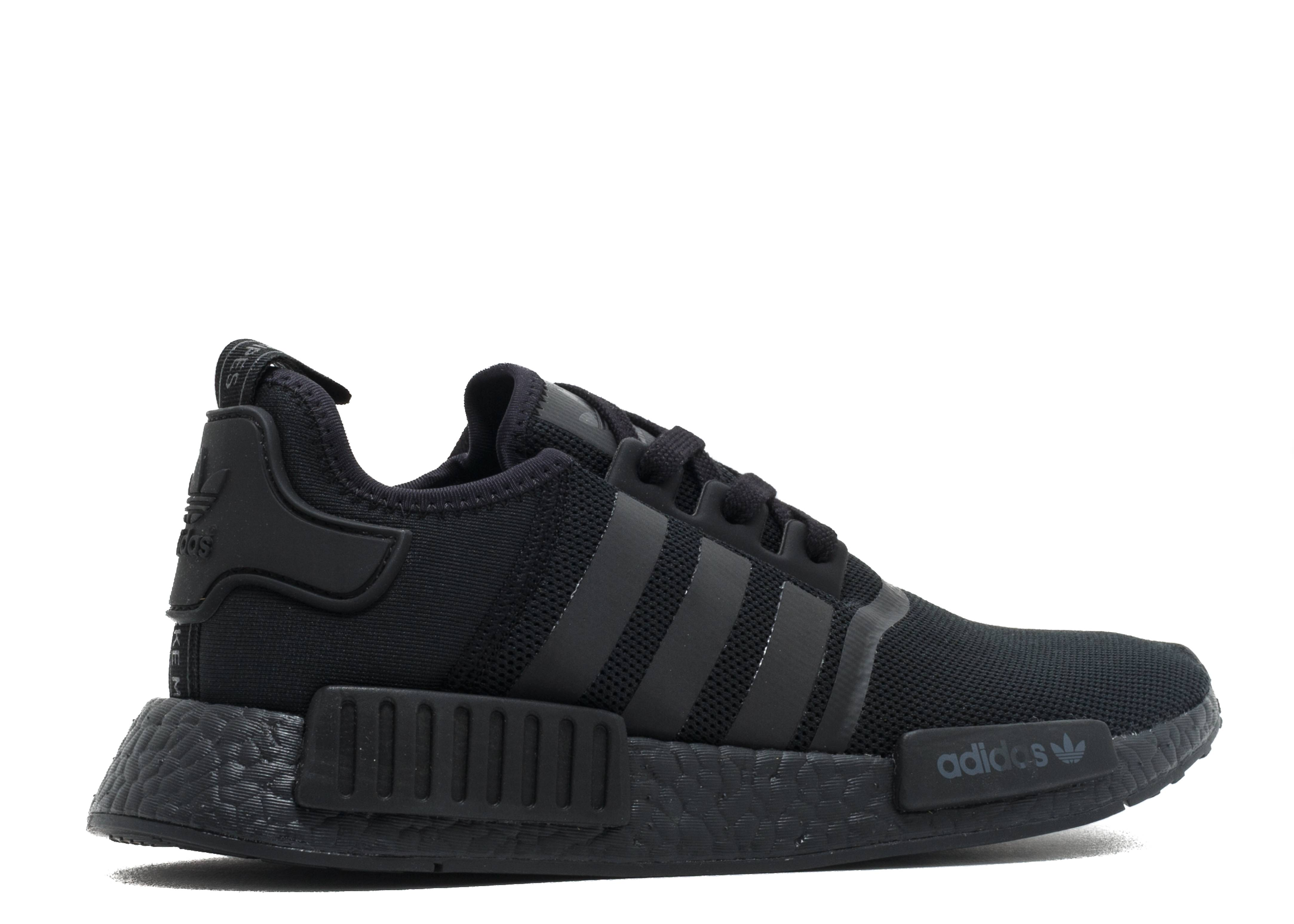 e46368fc3 Footaction on Twitter   The black  adidas NMD R1 Primeknit  Gum