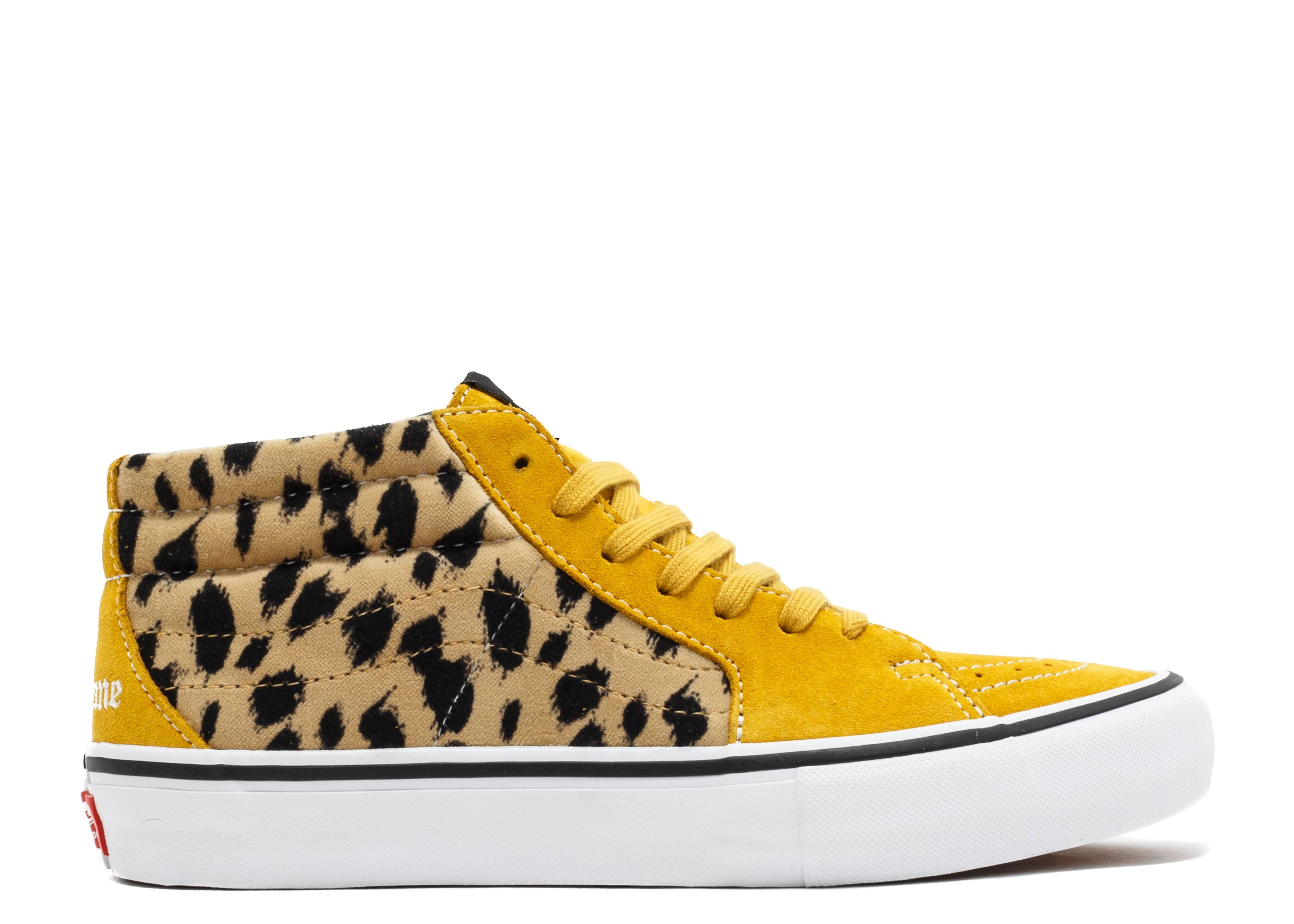 """sk8-mid pro (supreme) """"supreme cheetah velvet"""""""