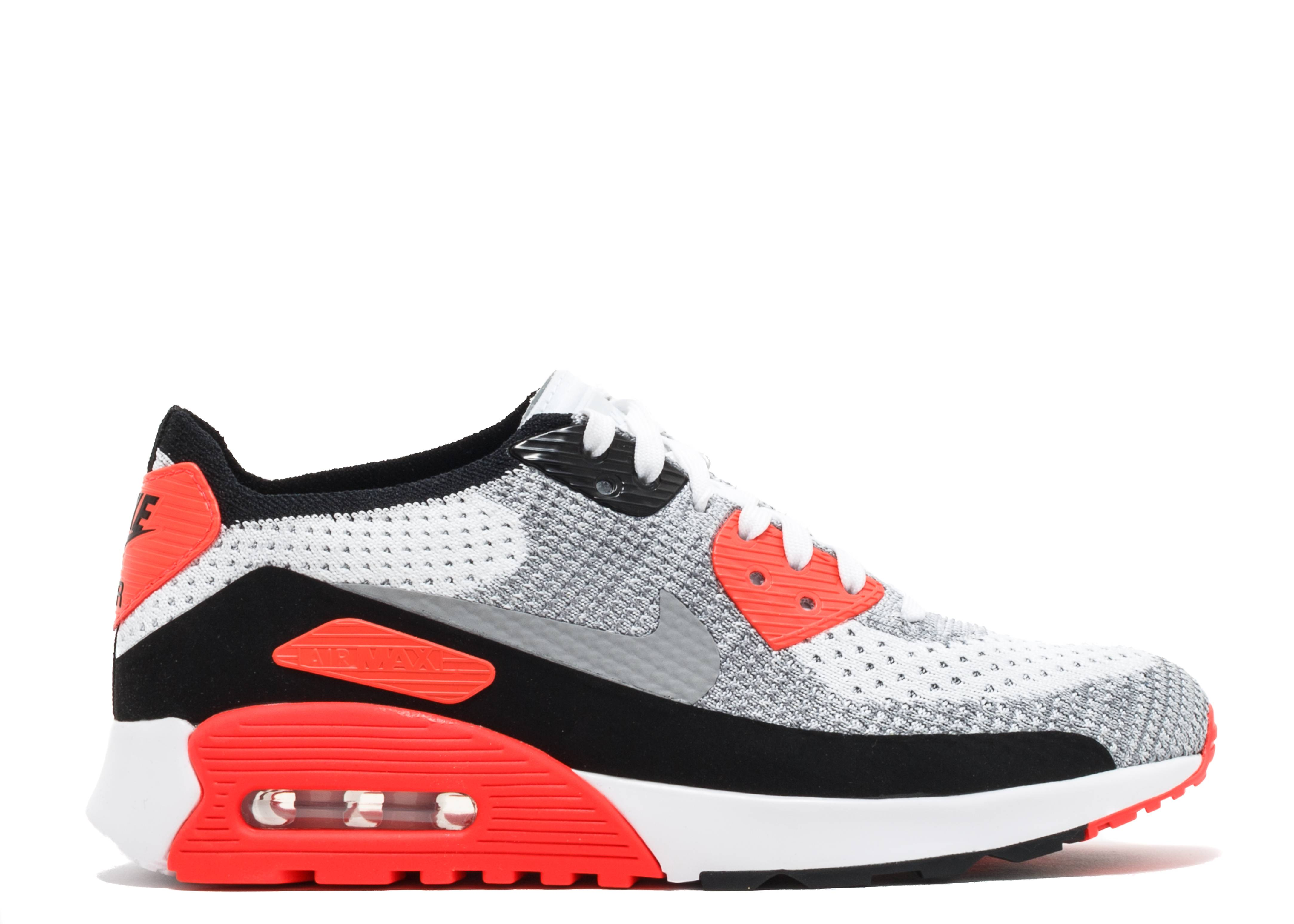 w air max 90 ultra 2 0 flyknit infrared flyknit nike 881109 100 white wolf grey bright. Black Bedroom Furniture Sets. Home Design Ideas