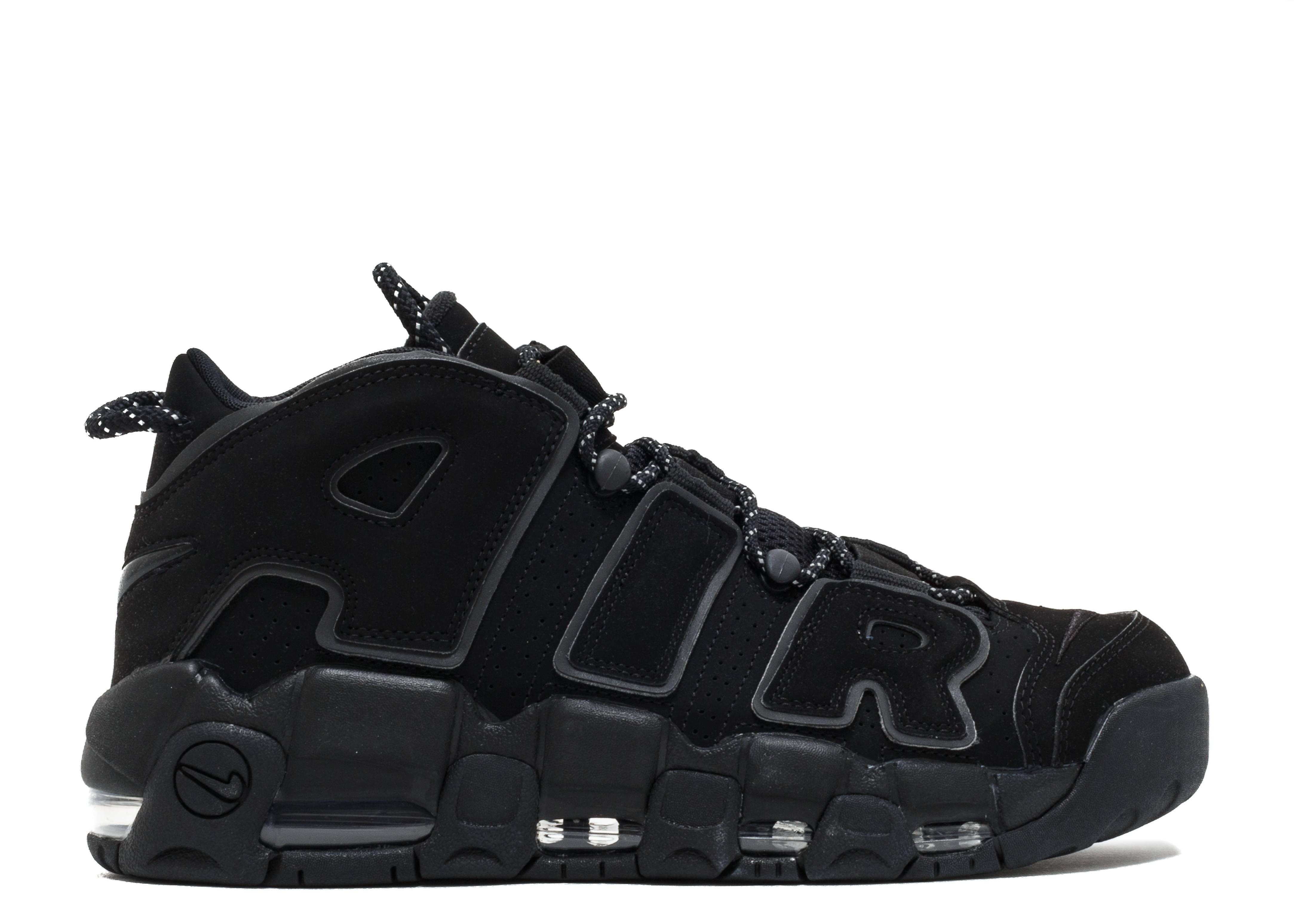 Desilusión Saqueo Interpretación  Air More Uptempo 'Reflective' - Nike - 414962 004 - black/black-black |  Flight Club