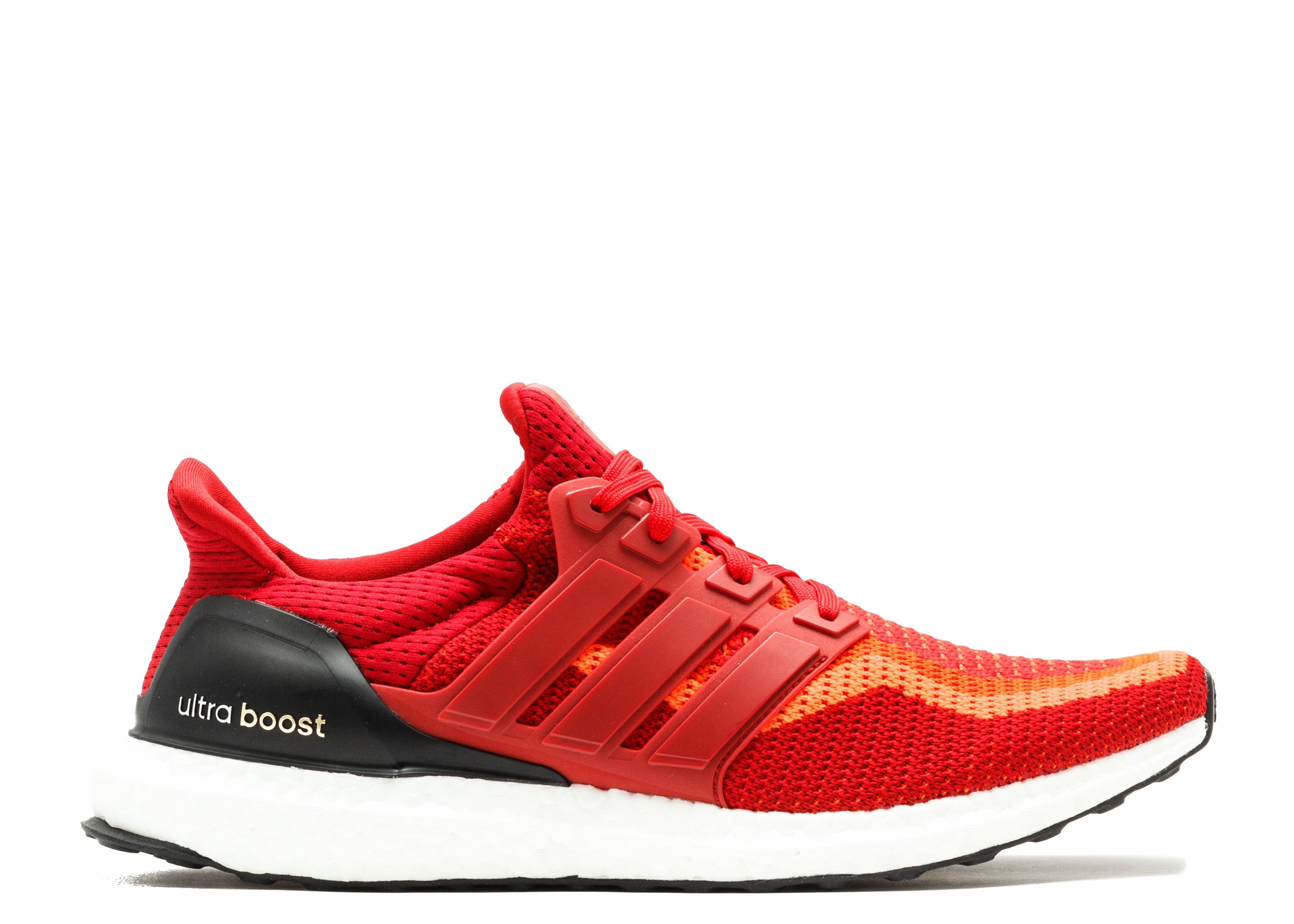Details about adidas Ultra Boost 2.0 Mens Solar Red Running Shoes AQ4006 UltraBOOST 7.5 & 8.5
