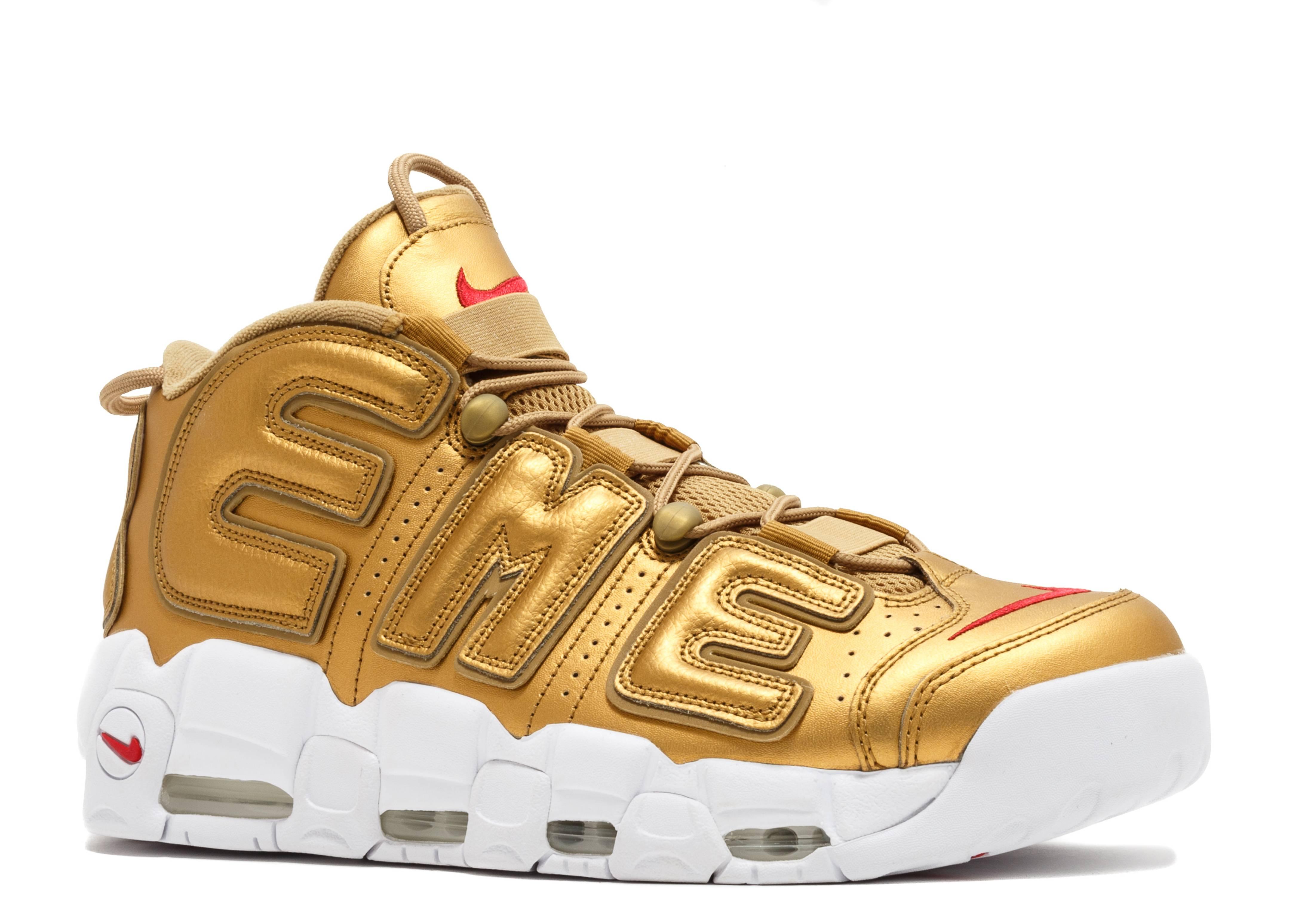 buy popular 8bfef 2da6f Nike Air More Uptempo Supreme Suptempo Gold - 2