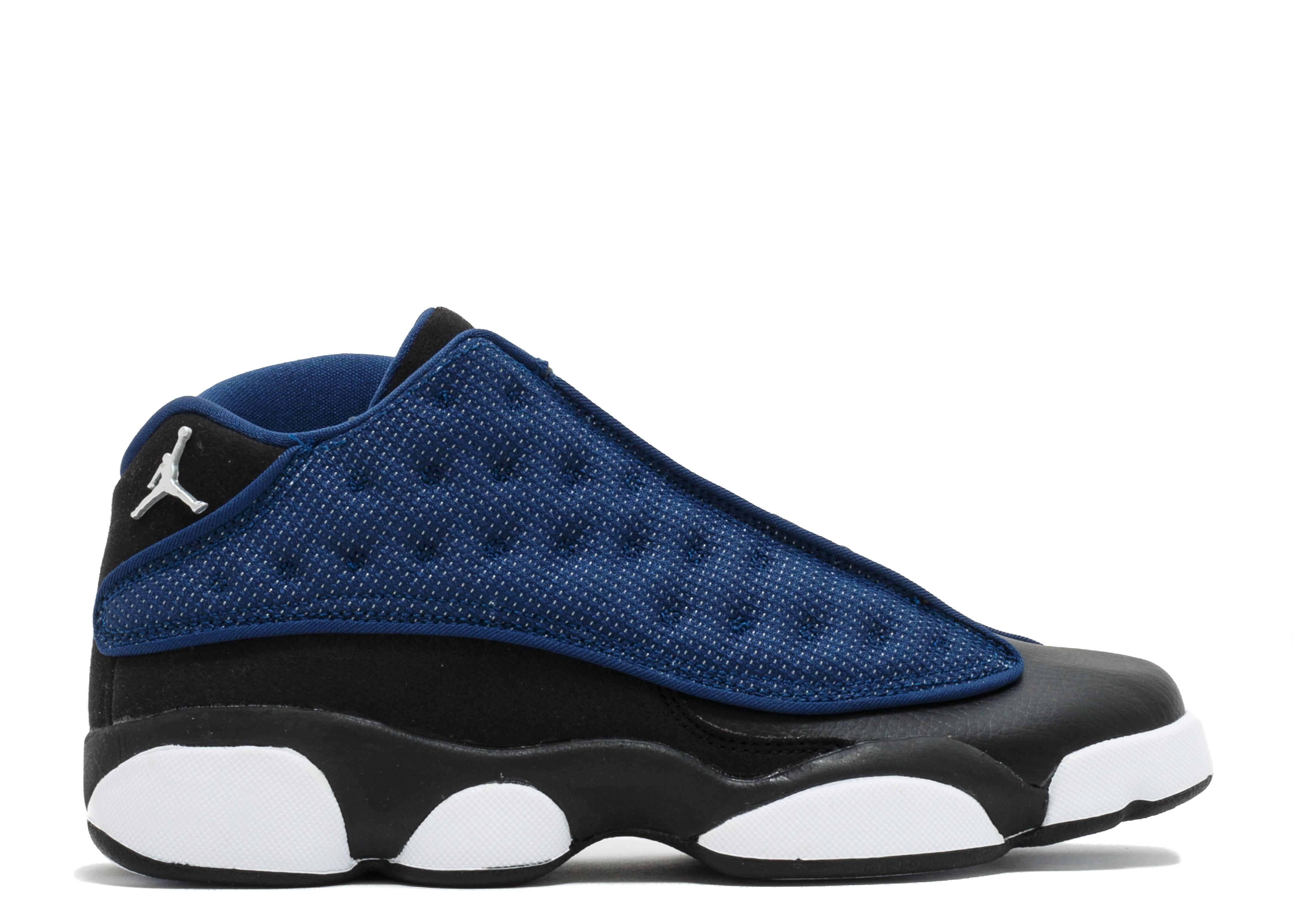 Air Jordan 13 Low Navy Metallic Silver Black Carolina Blue New Basketball Shoes