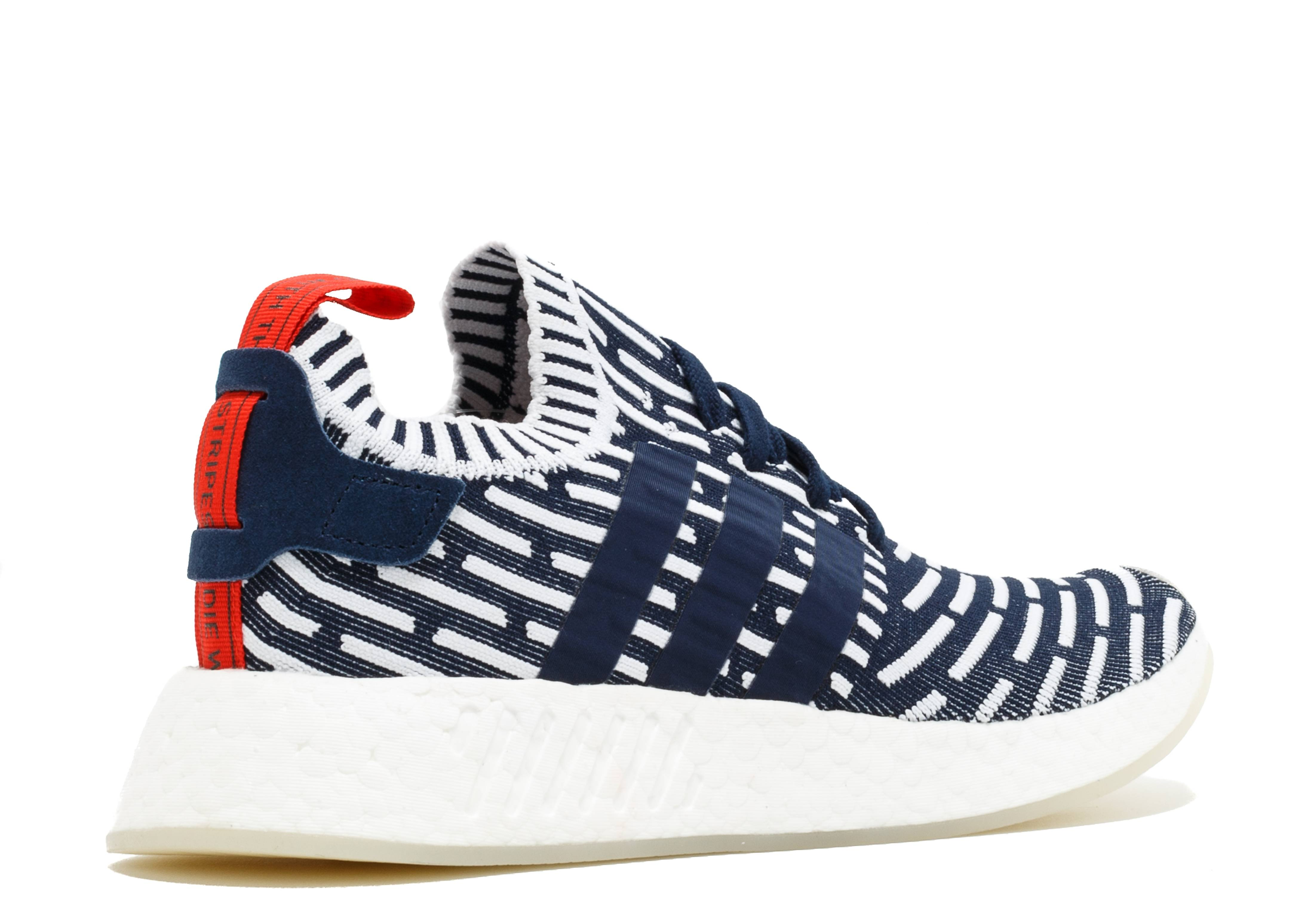 adidas NMD R2 PK NavyWhite Red BB2909 For Sale