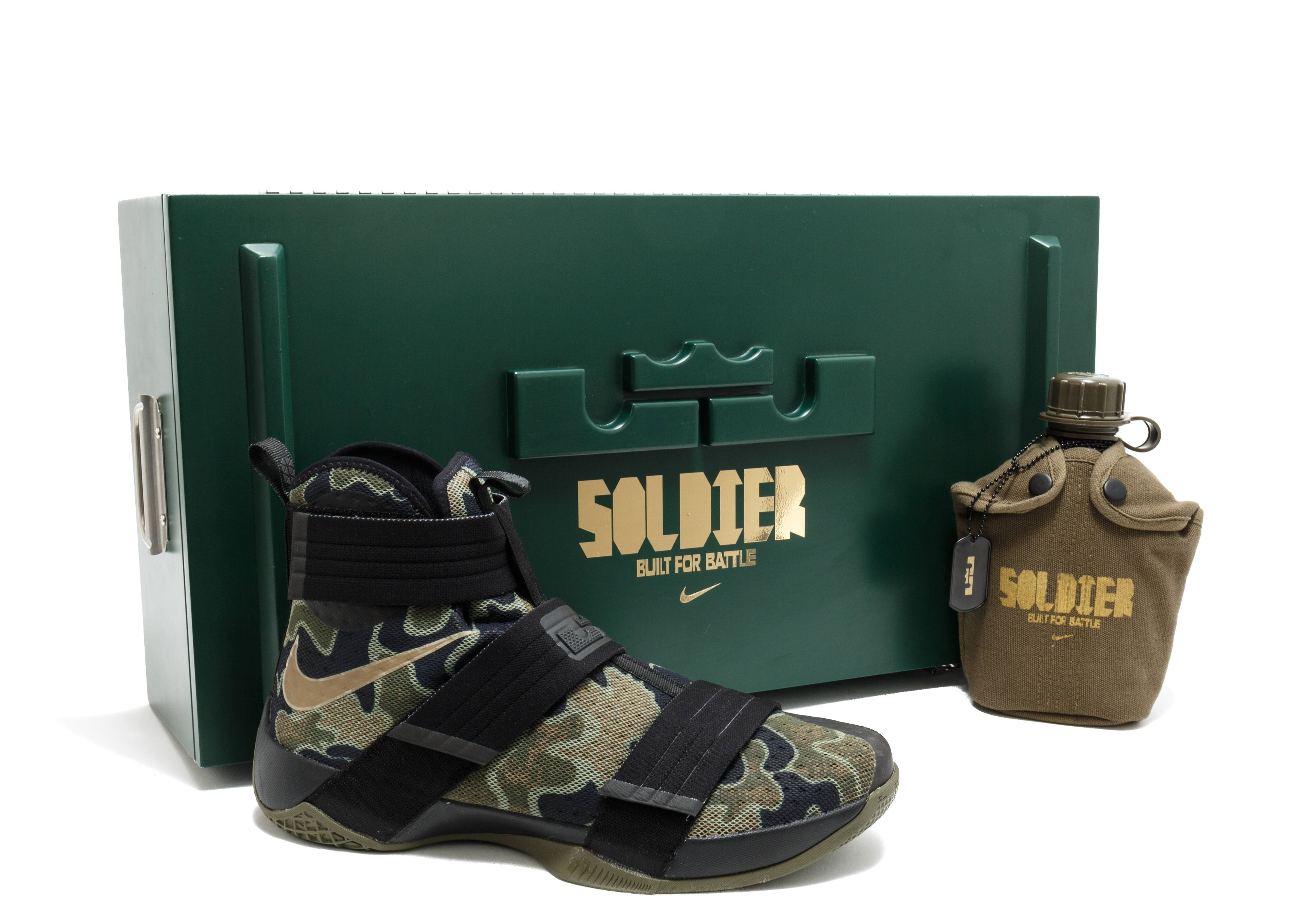 """lebron soldier 10 """"army camo with special packaging"""""""