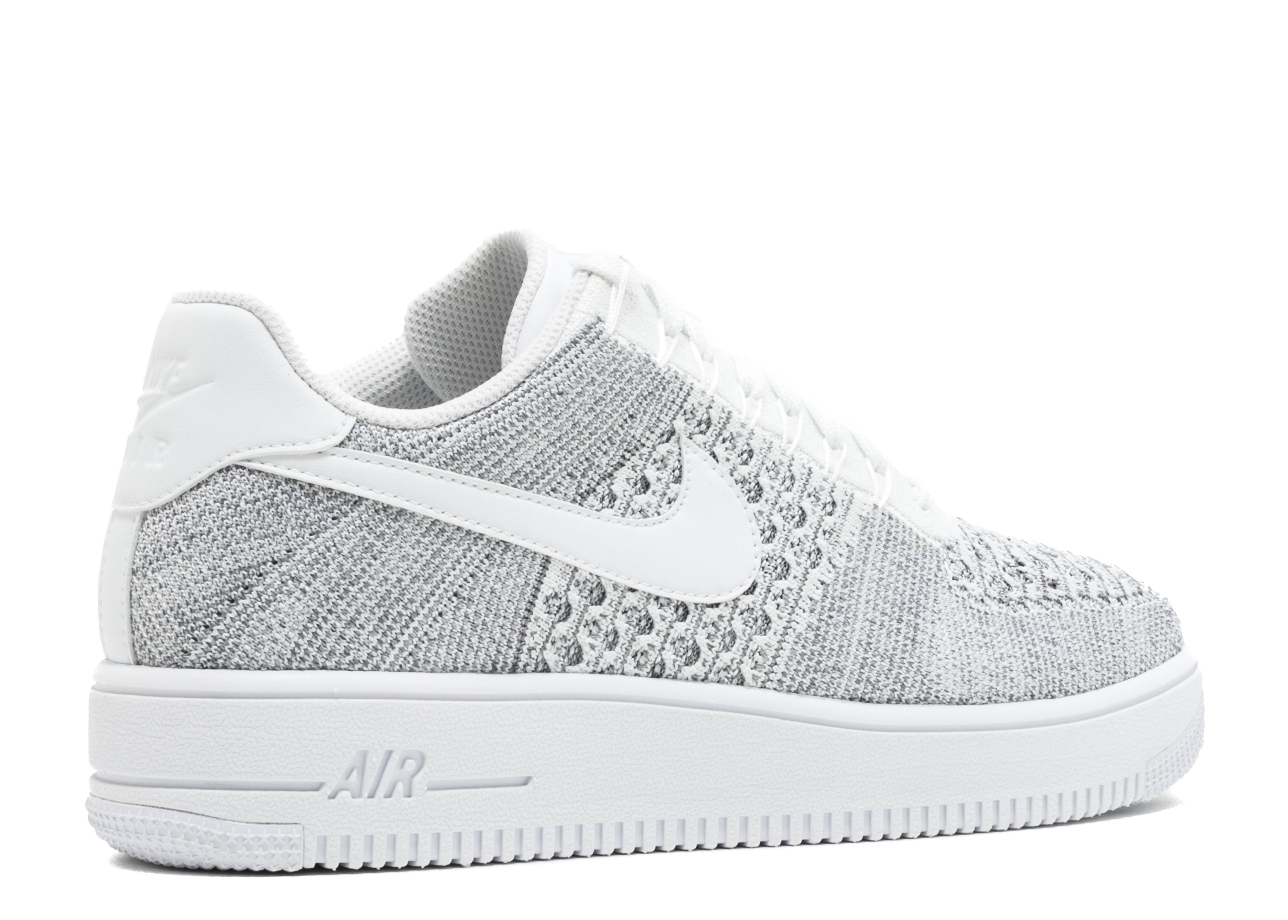 5b15a453d517 Air Force 1 Flyknit Low - Nike - 817419 006 - cool grey white white ...