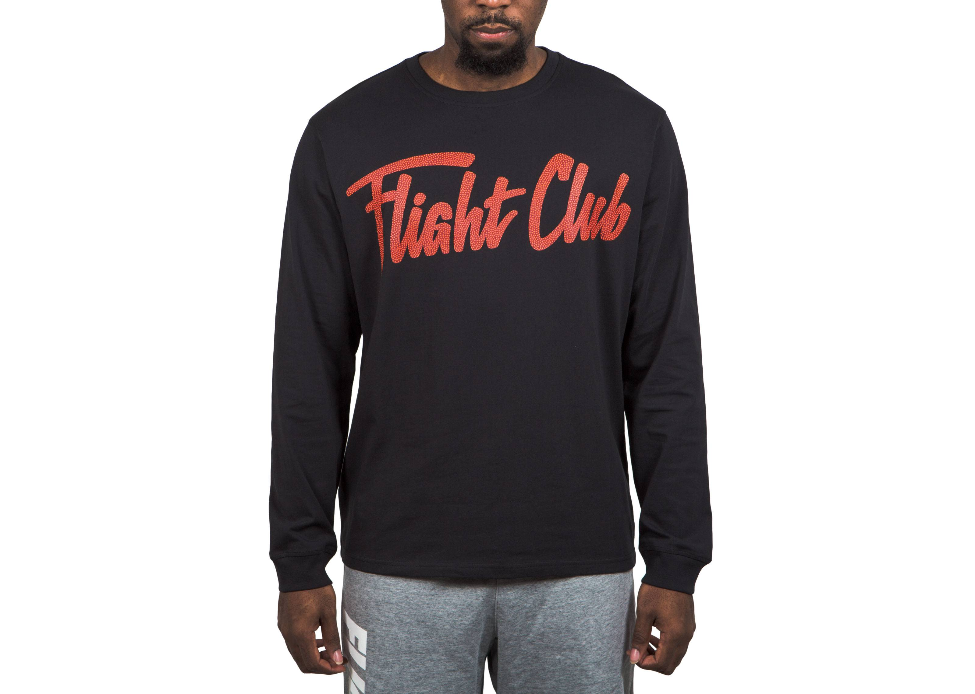 19147a7d3005 Script LS Cotton T-Shirt - Flight Club - FCT03 17 2 - black red ...
