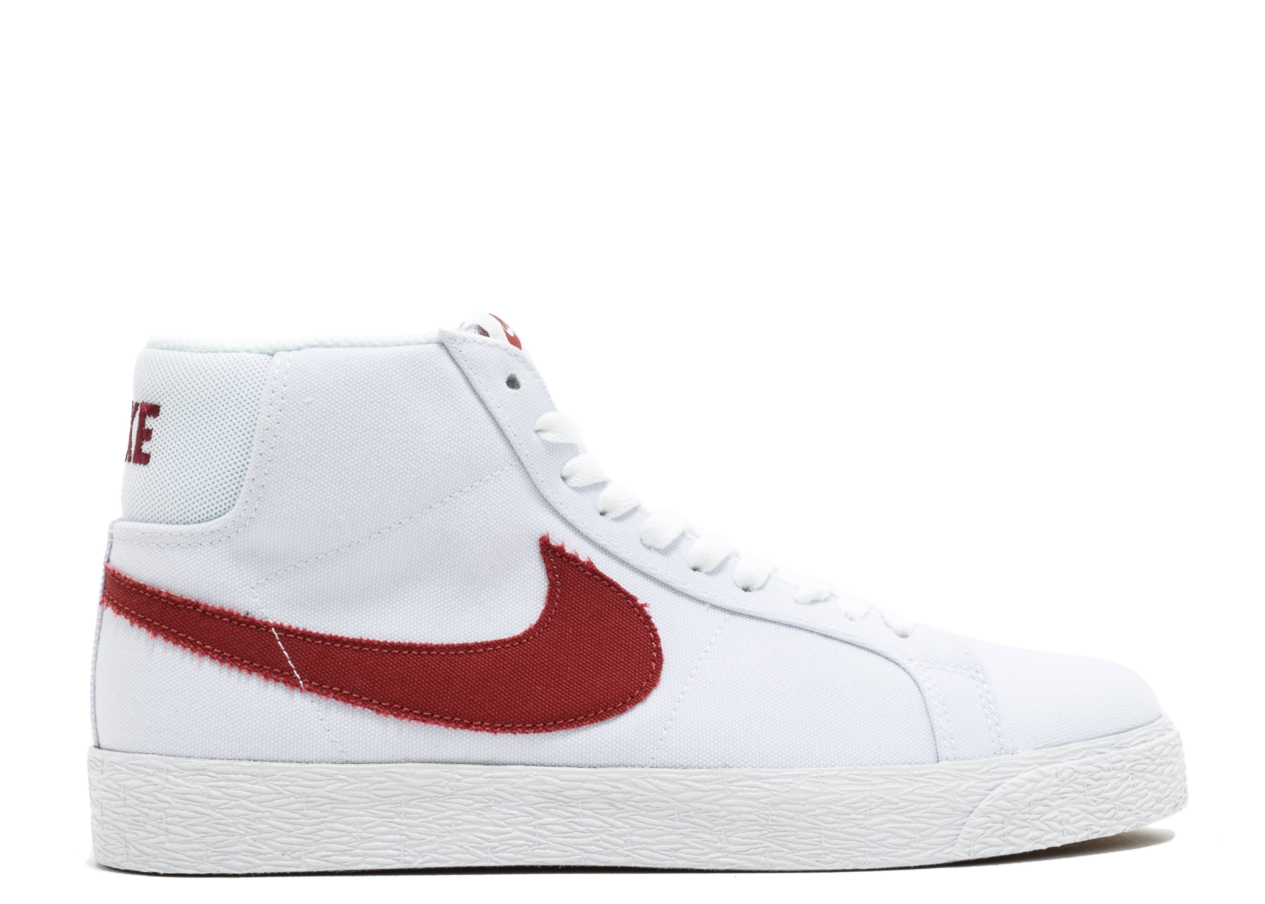 Nike Blazer 1 High Red White Shoes
