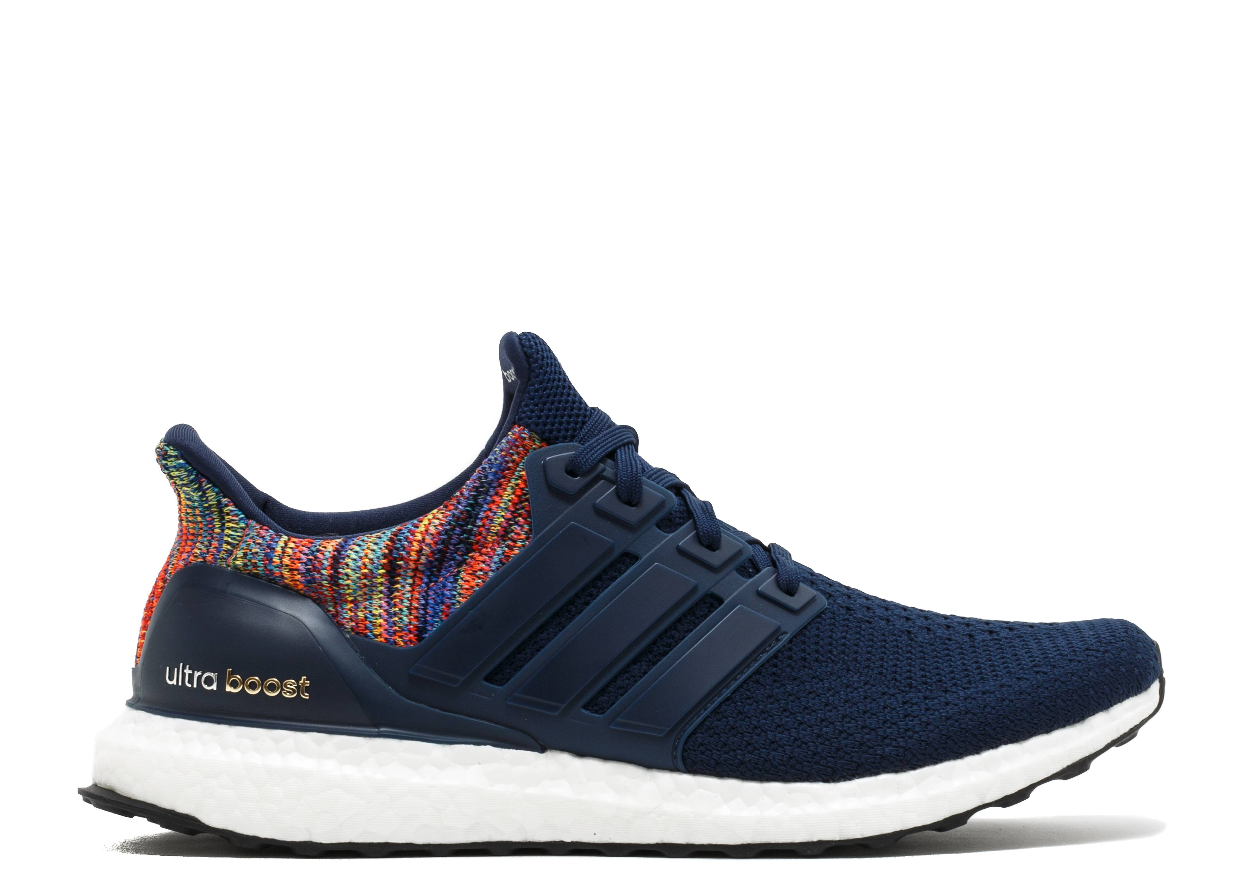 7a4bac236b6c Ultra Boost 2.0 - Adidas - by1756 - core blue  multi