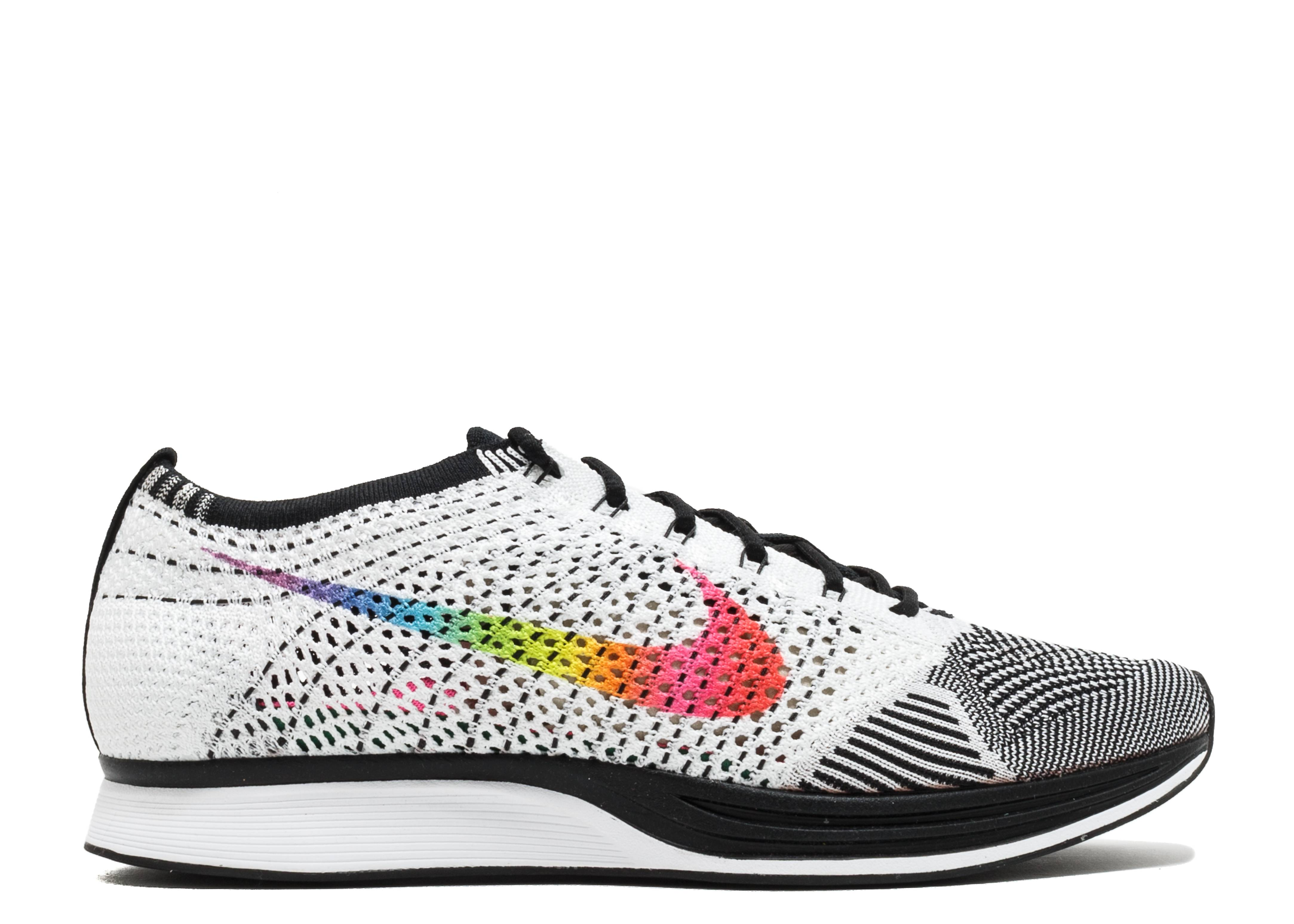 5029a530fc5b5 Flyknit Racer Be True - Nike - 902366 100 - white multi-color black ...